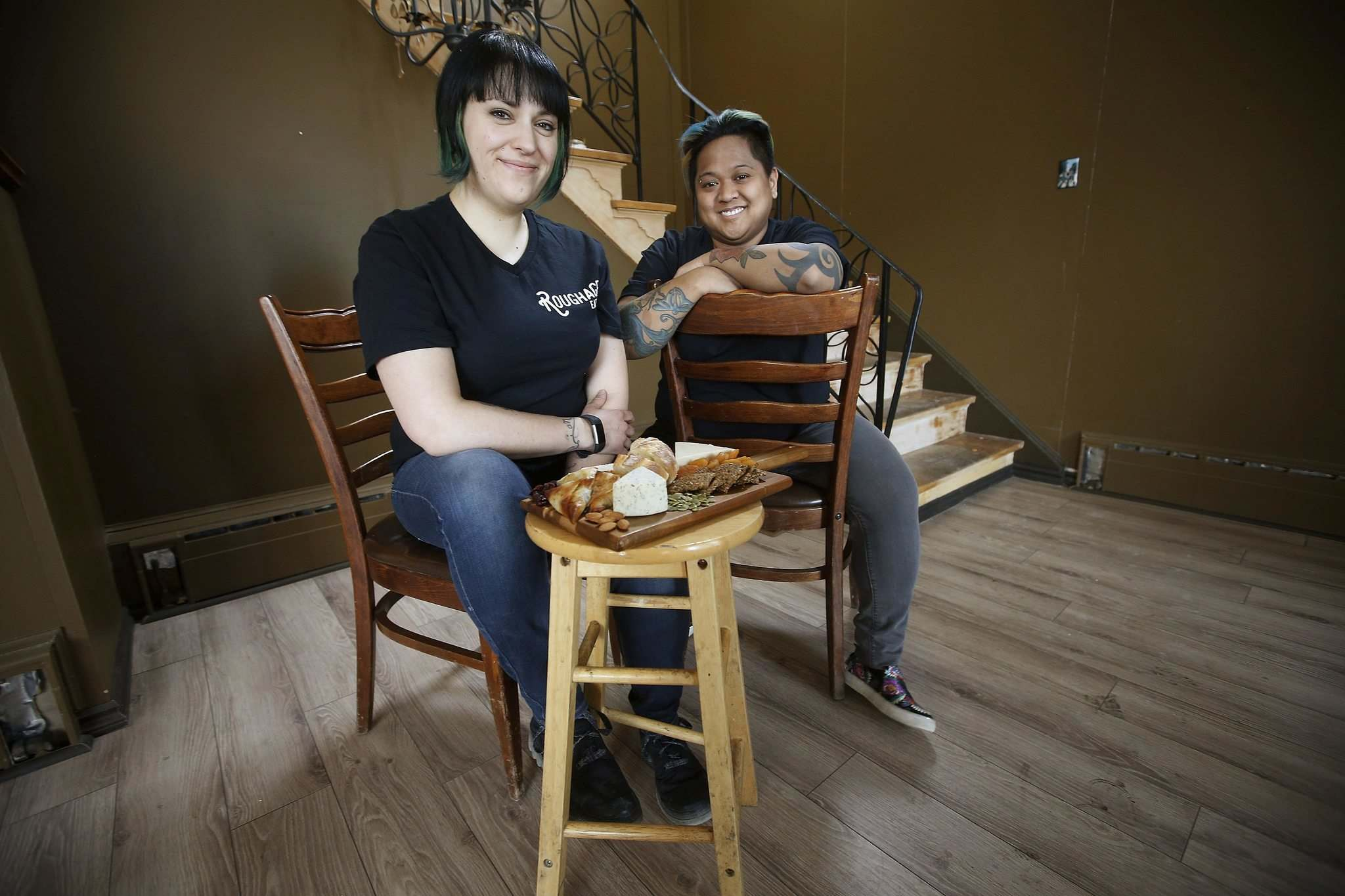 Jessie Hodel, left, and Candice Tonelete, co-owners of the new restaurant Roughage Eatery. (John Woods photos / Winnipeg Free Press)