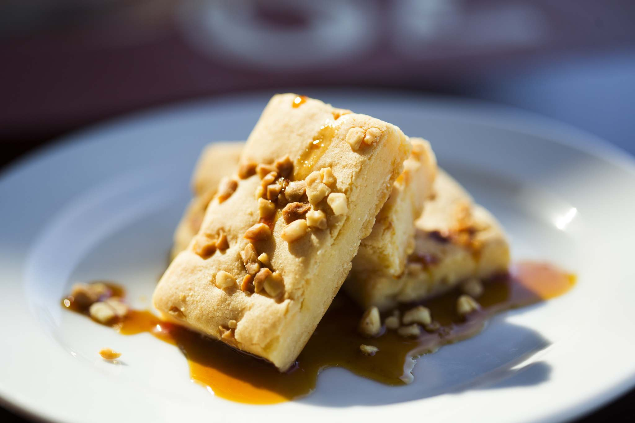 The caramel bars are soft, sweet comfort food brought in from the Philippines.