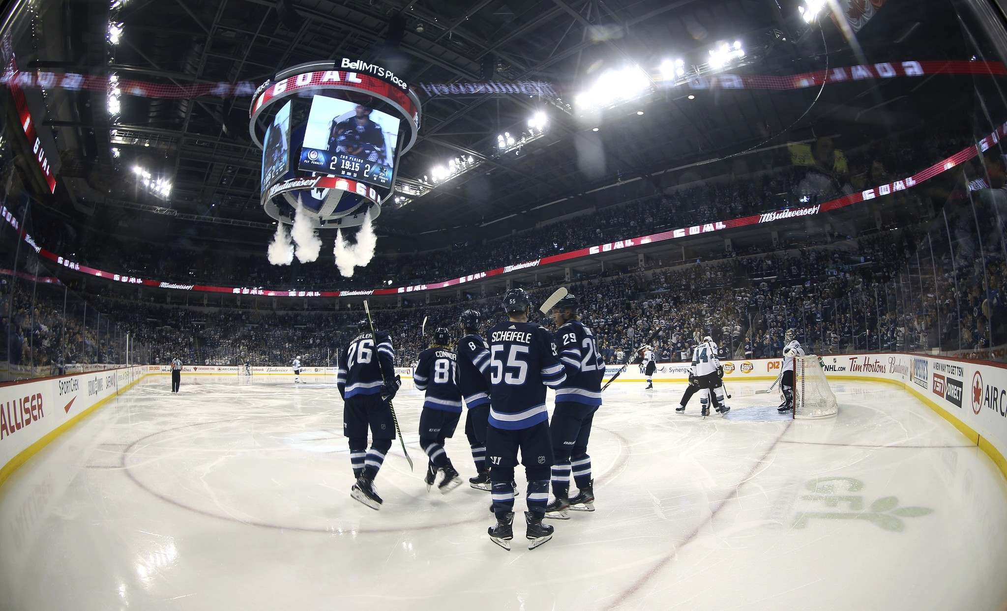 The Winnipeg Jets and San Jose Sharks lit the lamp nine times Tuesday, but such isn&#39;t necessarily a recipe for success for a Jets team missing three of its top defencemen.</p><p>TREVOR HAGAN / THE CANADIAN PRESS</p>