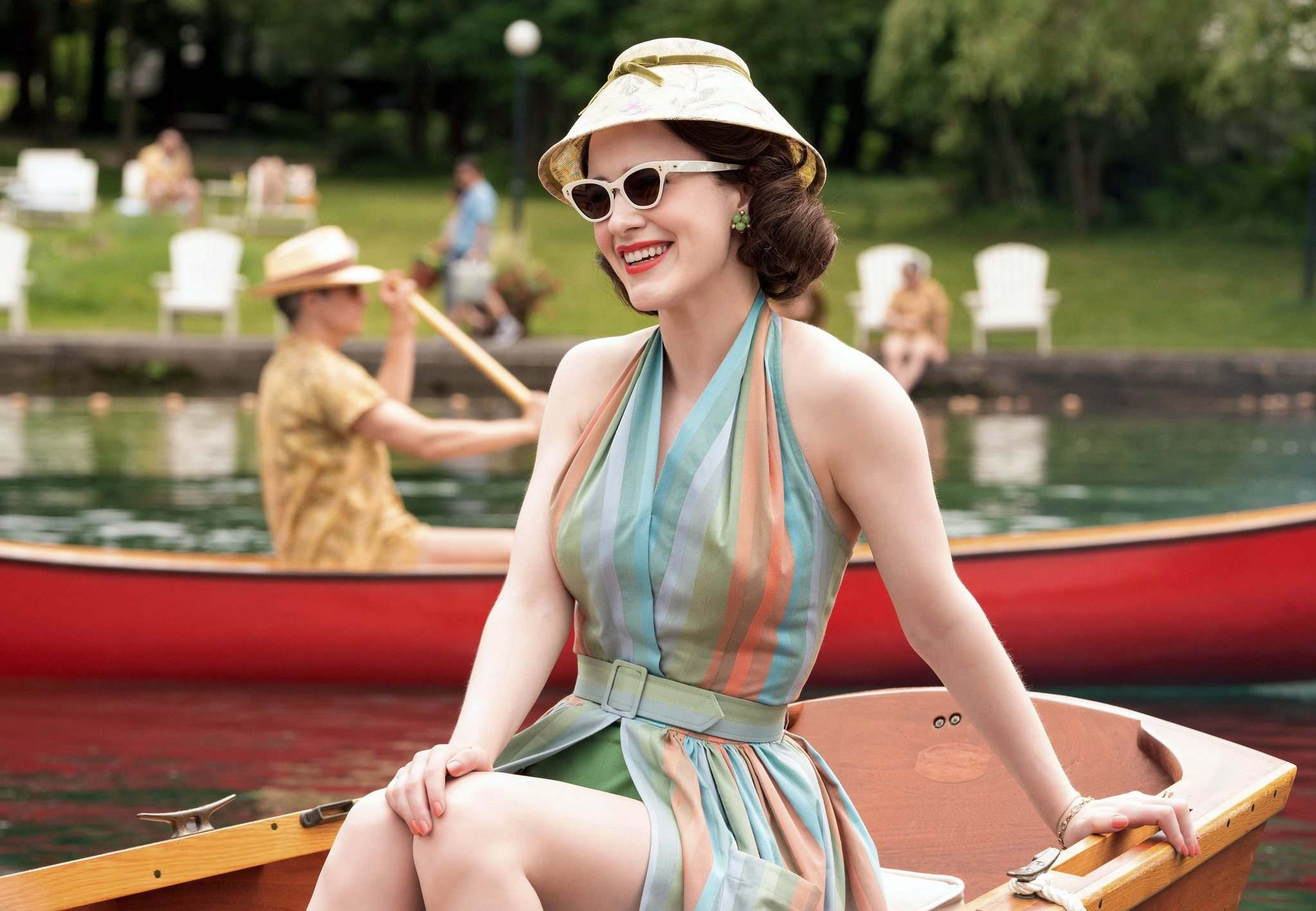 Rachel Brosnahan won an Emmy for her role in The Marvelous Mrs. Maisel. (Nicole Rivelli / Amazon)