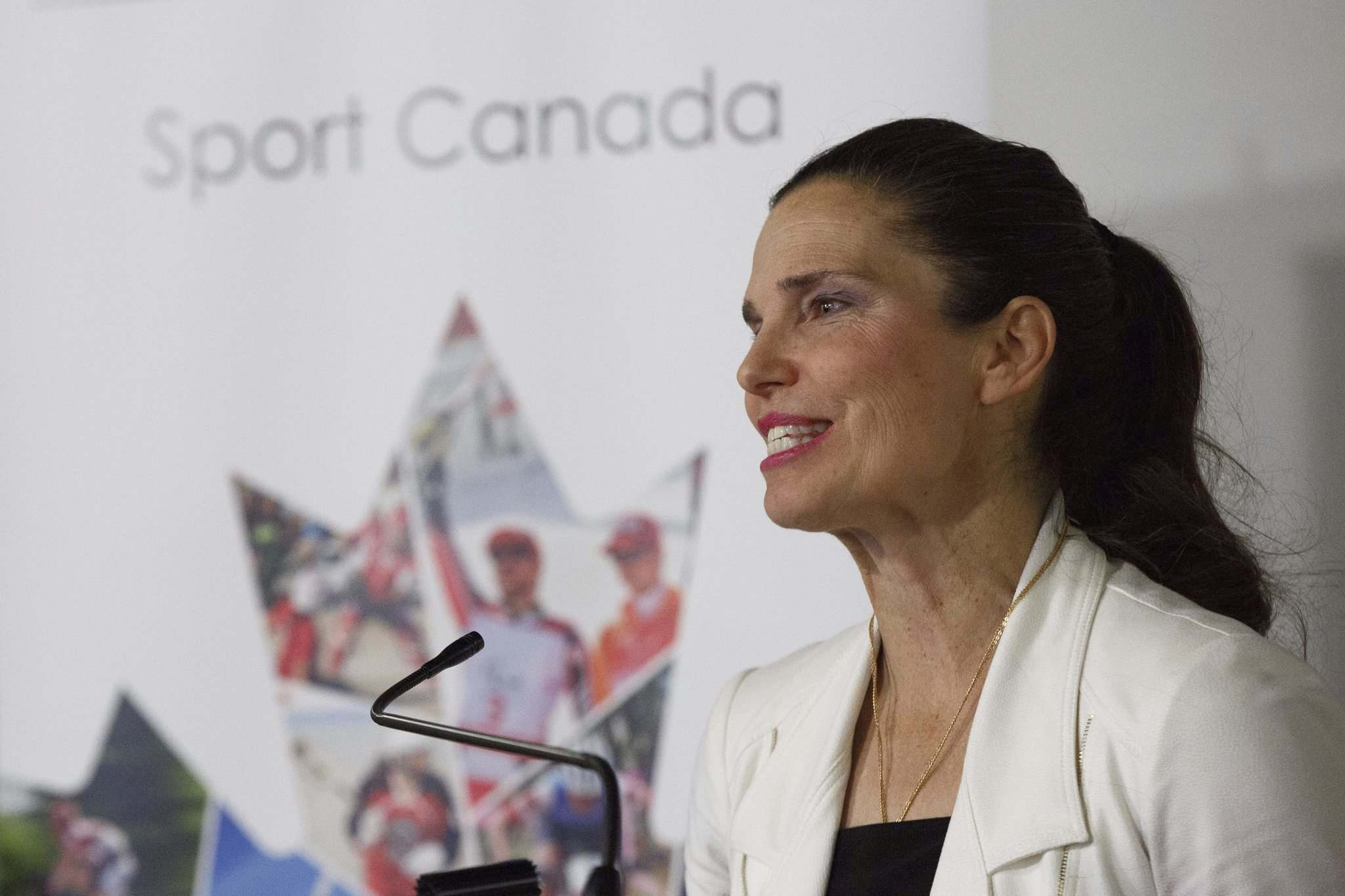 Sports Minister Kirsty Duncan announced the funding is going to the Canadian Association for the Advancement of Women and Sport and Physical Activity to support a multifaceted approach to get more girls and women involved all areas of sport. (Mike Deal / Winnipeg Free Press)</p>