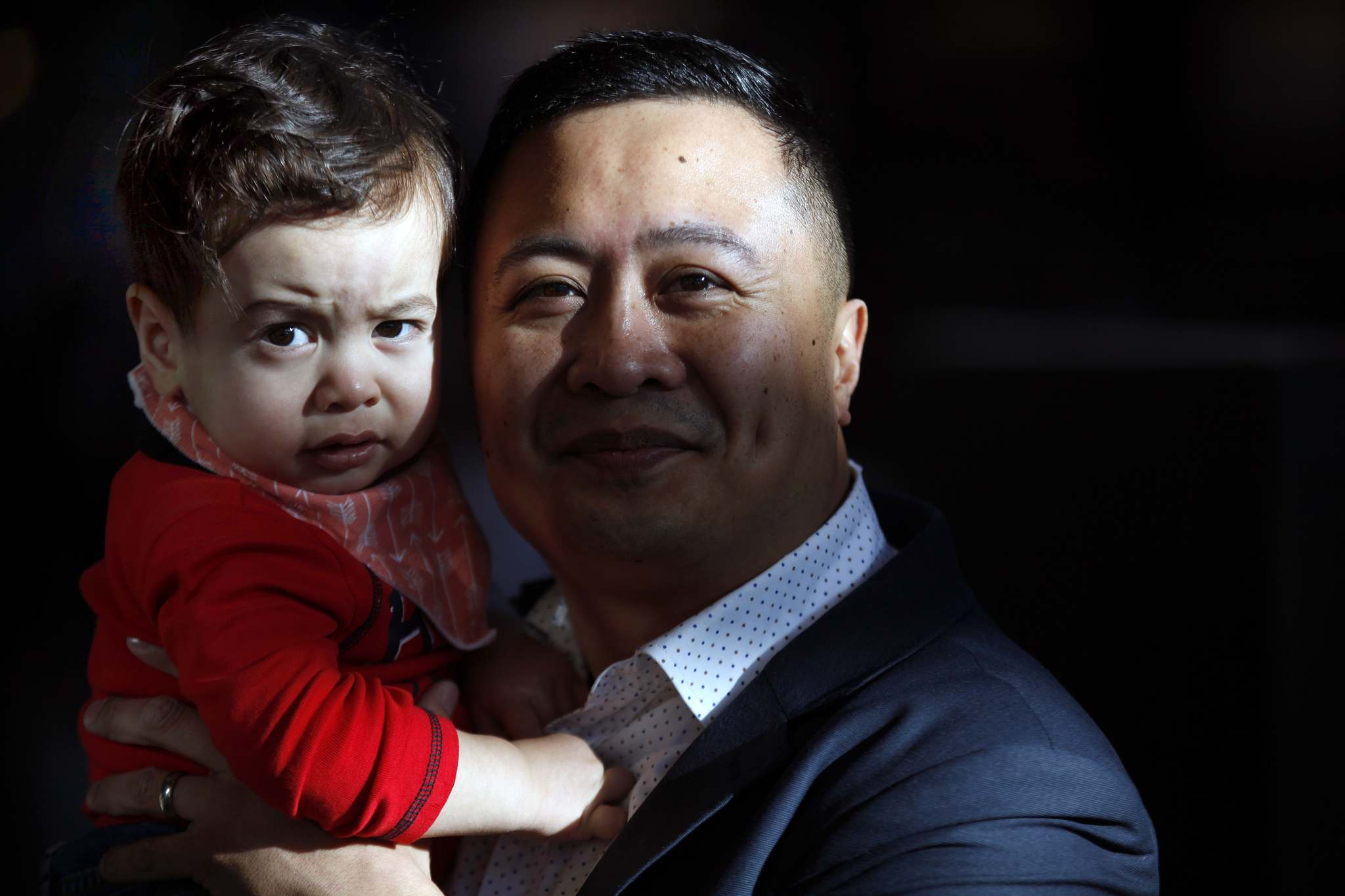 PHIL HOSSACK / WINNIPEG FREE PRESS</p><p>Paul Lacap, at The Forks with Nate, 15 months, didn't want to miss out on the formative first year of his son's life.</p>