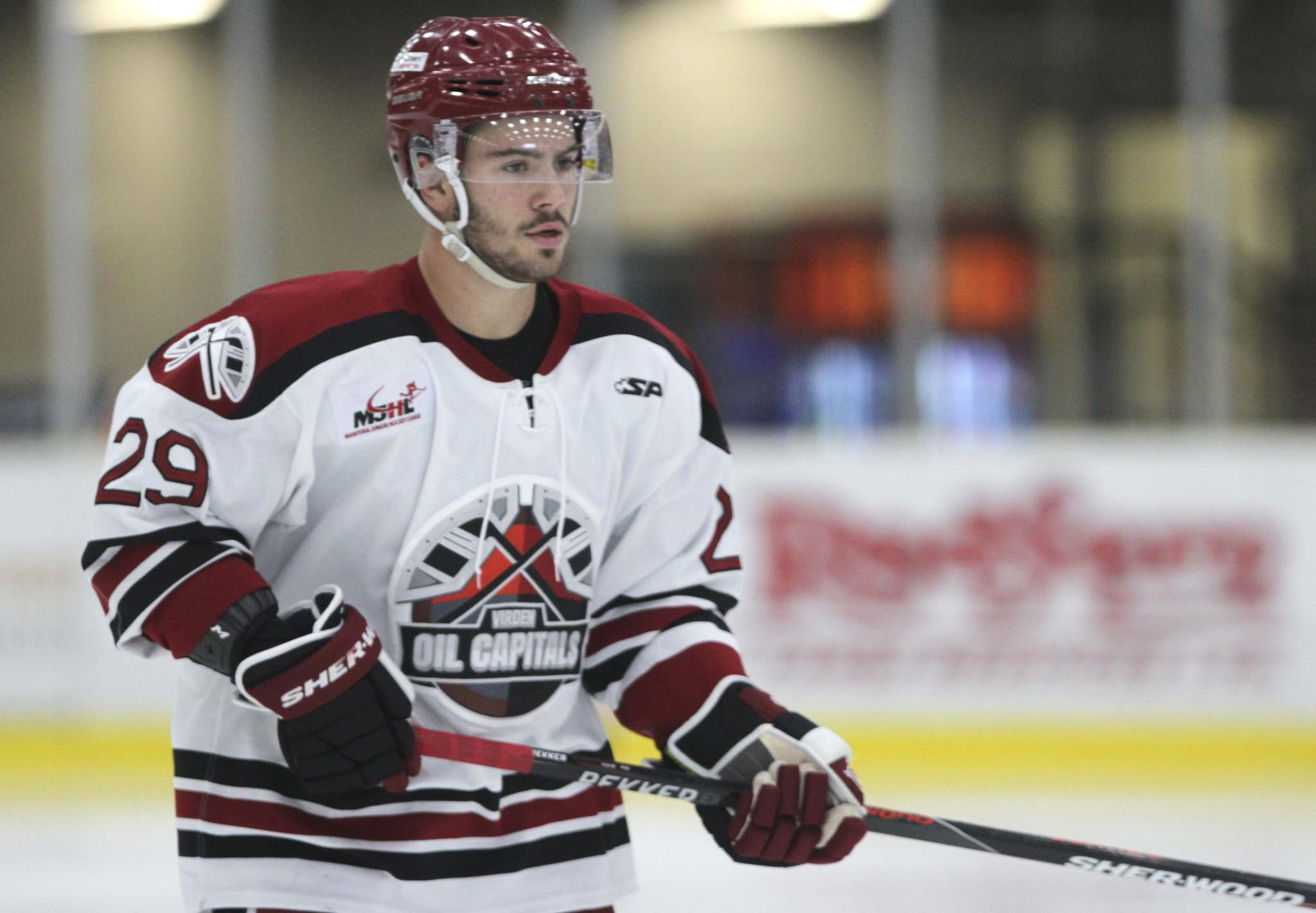 Virden centre Kolten Kanaski scored eight times in a six-game series with the Selkirk Steelers as the Oil Capitals advanced to an MJHL semifinal series against the top-seeded Portage Terriers. (Perry Bergson / The Brandon Sun files)</p>