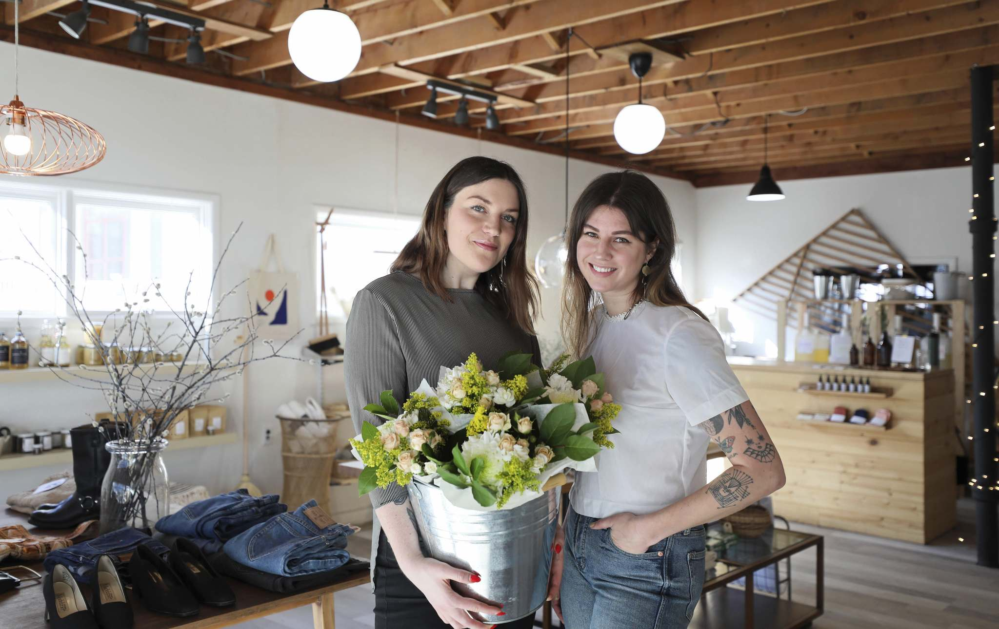 Olena Kozel (left) and Erin Ahl offer a little bit of everything at Public General Store, including their own product lines. 'I often refer to Erin as a mad scientist, because she's always coming up with these fantastic things,' Kozel says.</p></p>