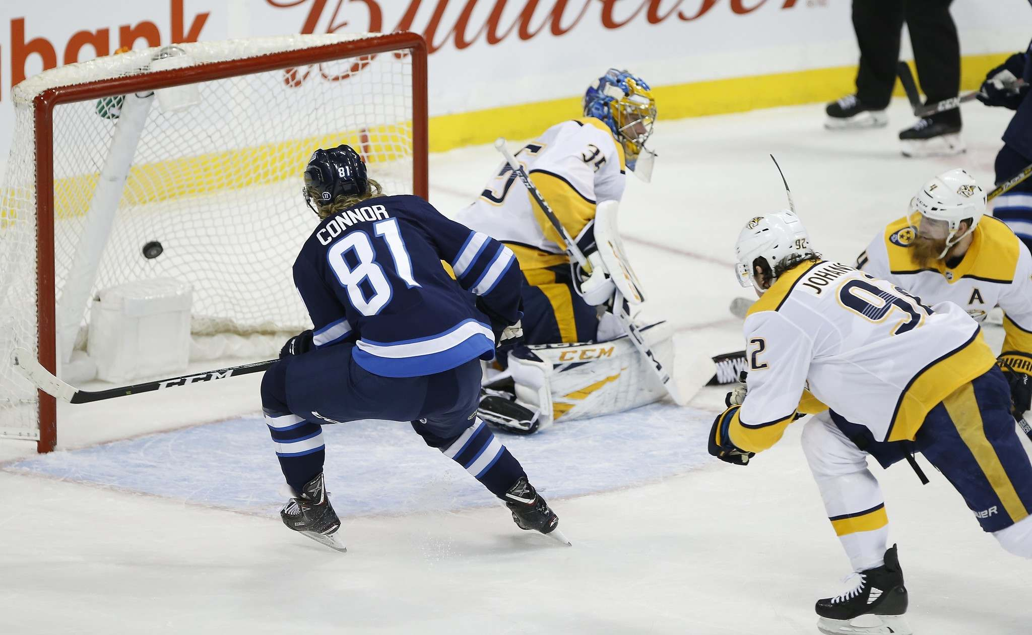 "The Jets beat the Predators 5-3 in Winnipeg the last time the teams met on March 1. (John Woods / The Canadian Press)</p> <p>""></a><figcaption readability="