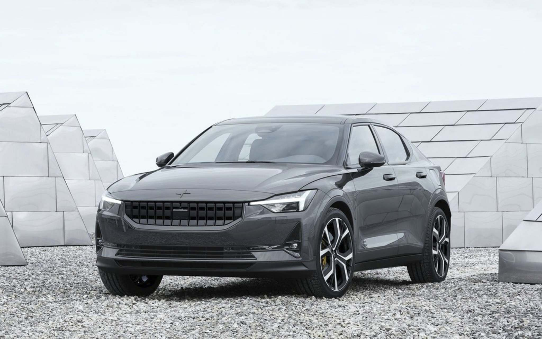 SuppliedThe Volvo Polestar 2 all-electric automobile is targeting established EV performance vehicles like Tesla's Model 3 and Jaguar's I-PACE.
