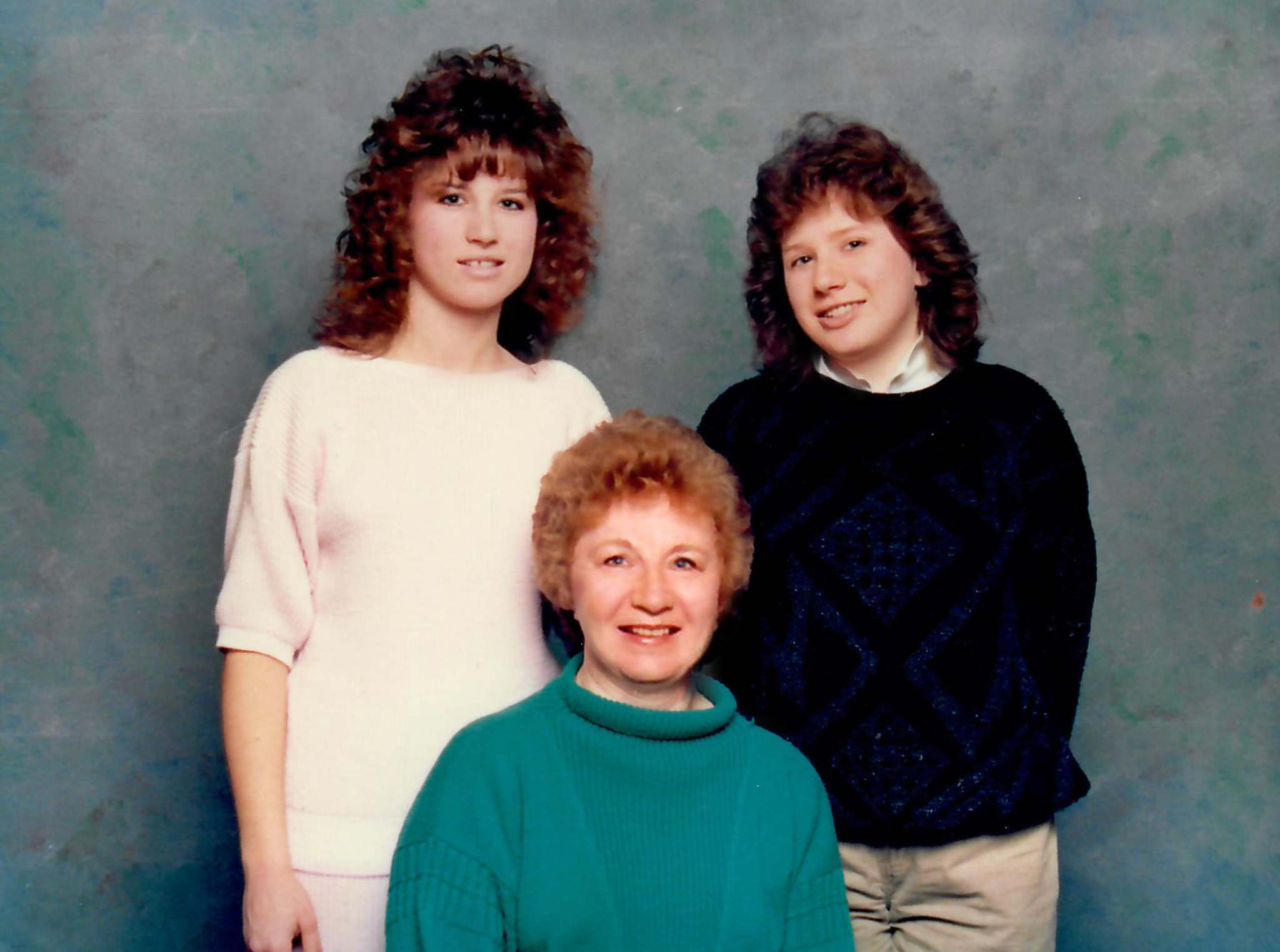Adele Murphy (centre), with her daughters Shannon Gavin (left) and Karen Murphy Ito in 1987.