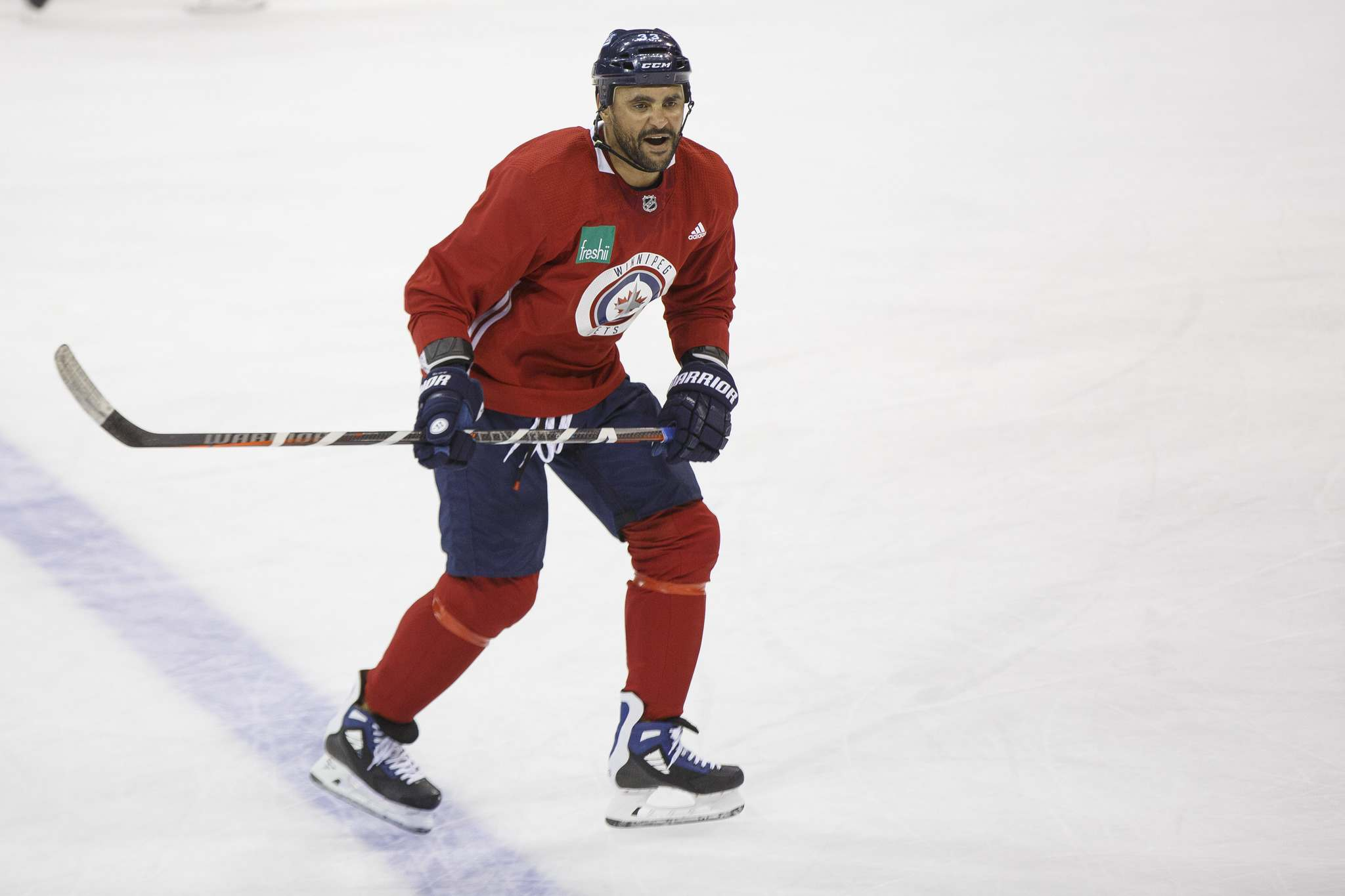 """Dustin Byfuglien will return to the Jets' lineup tonight after being off since mid-February with an ankle injury. (Mike Deal / Winnipeg Free Press files)</p> <p>""""></a><figcaption readability="""