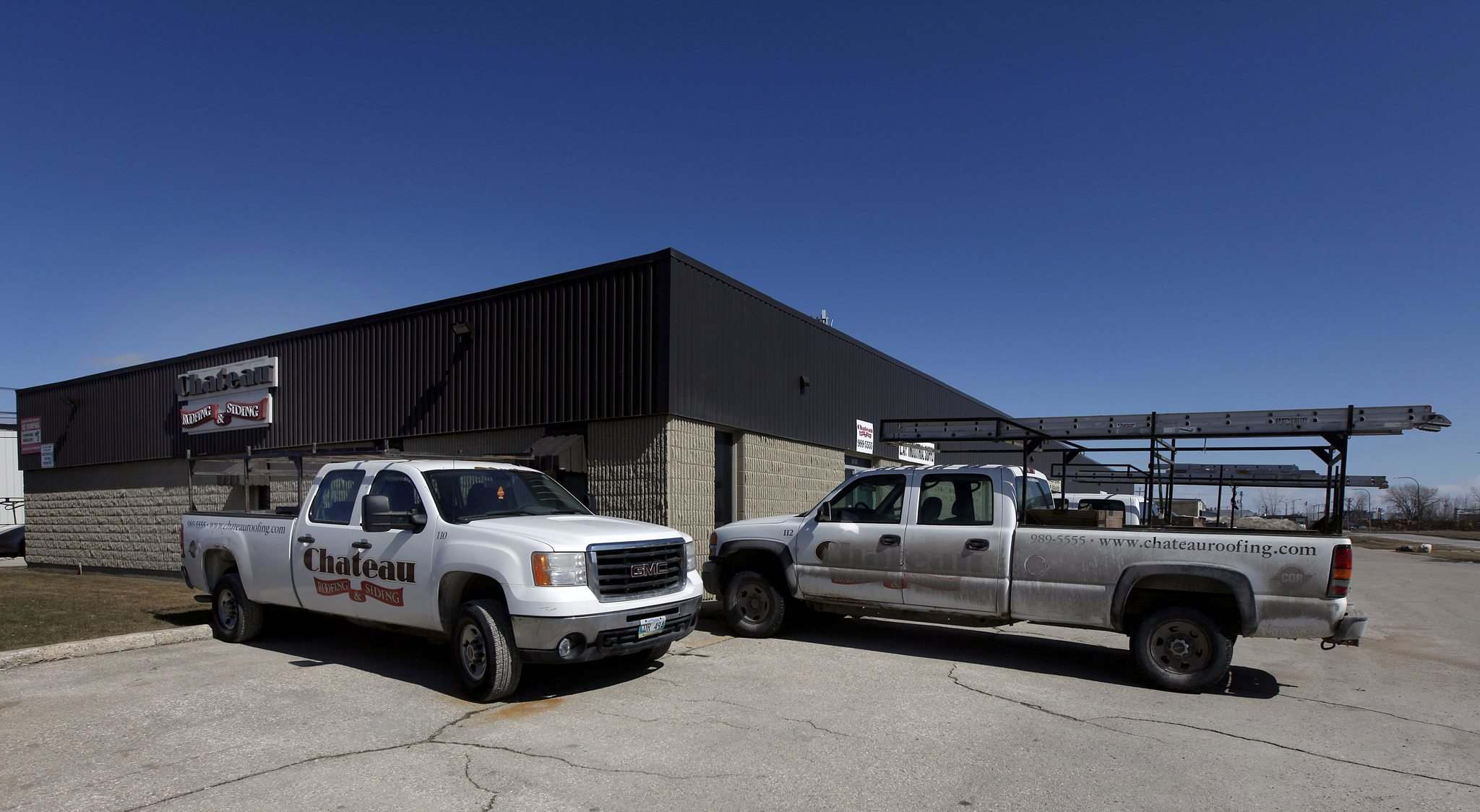 PHIL HOSSACK / WINNIPEG FREE PRESS </p><p>Around 10 Chateau trucks and trailers still sit in front of the company&#39;s Transcona offices. Neighbours say the equipment has not moved in a few weeks.</p>