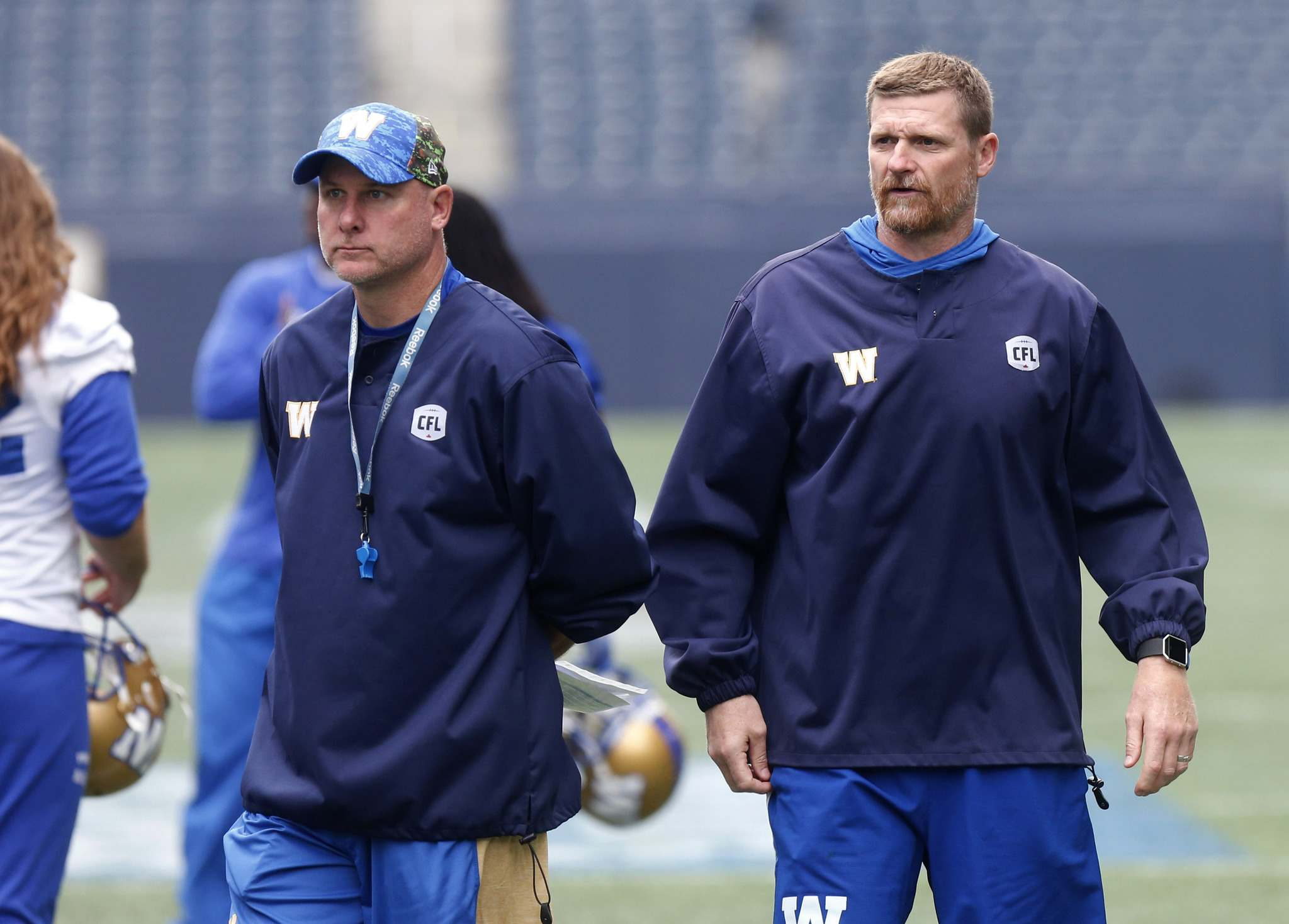 WAYNE GLOWACKI / WINNIPEG FREE PRESS FILES</p><p>Winnipeg Blue Bombers offensive coordinator Paul LaPolice and head coach Mike O'Shea are at IMG Academy in Bradenton, Fla to work out some of the team's American prospects in preparation for the start of Bombers training camp next month.</p>