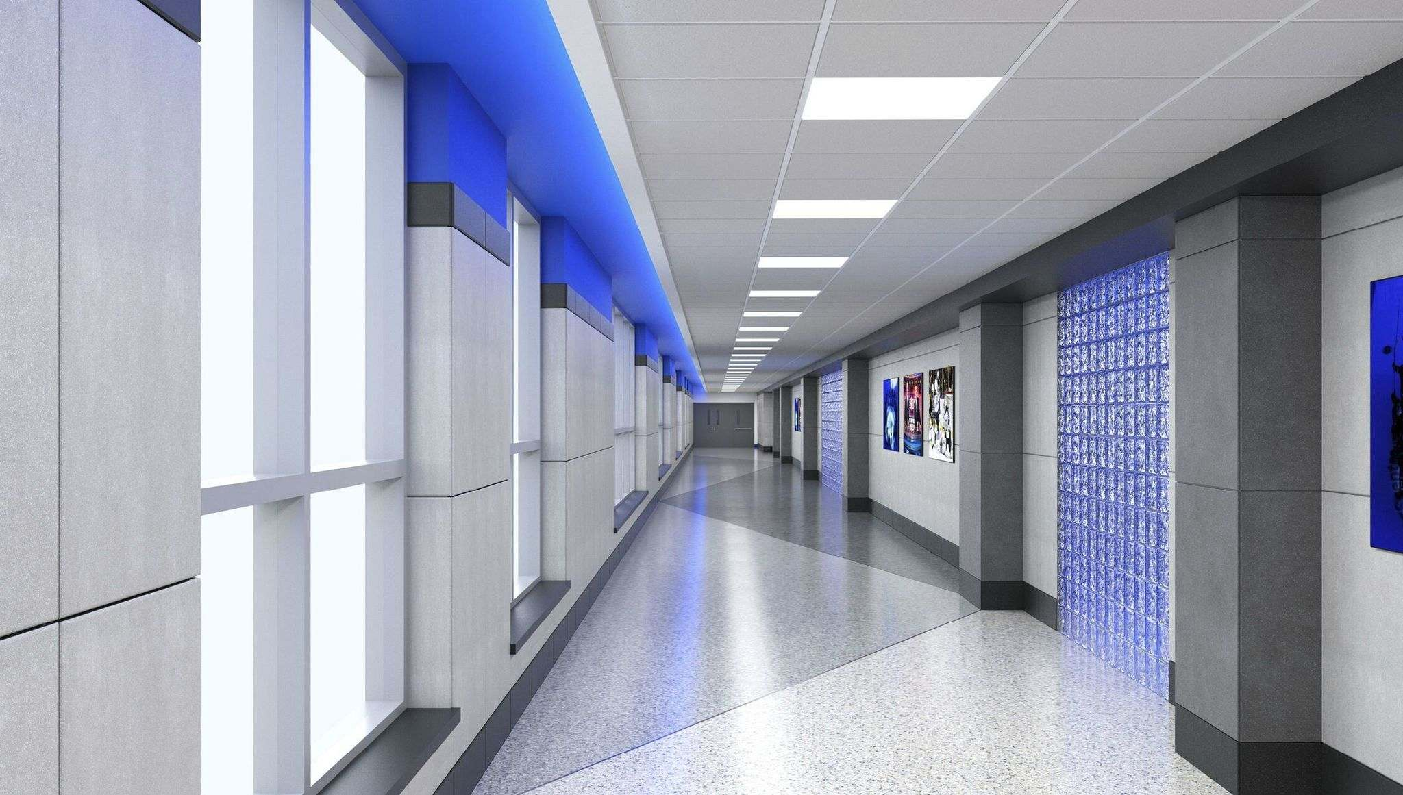 A rendering of what the completed skywalk will look like. (Submitted)</p>