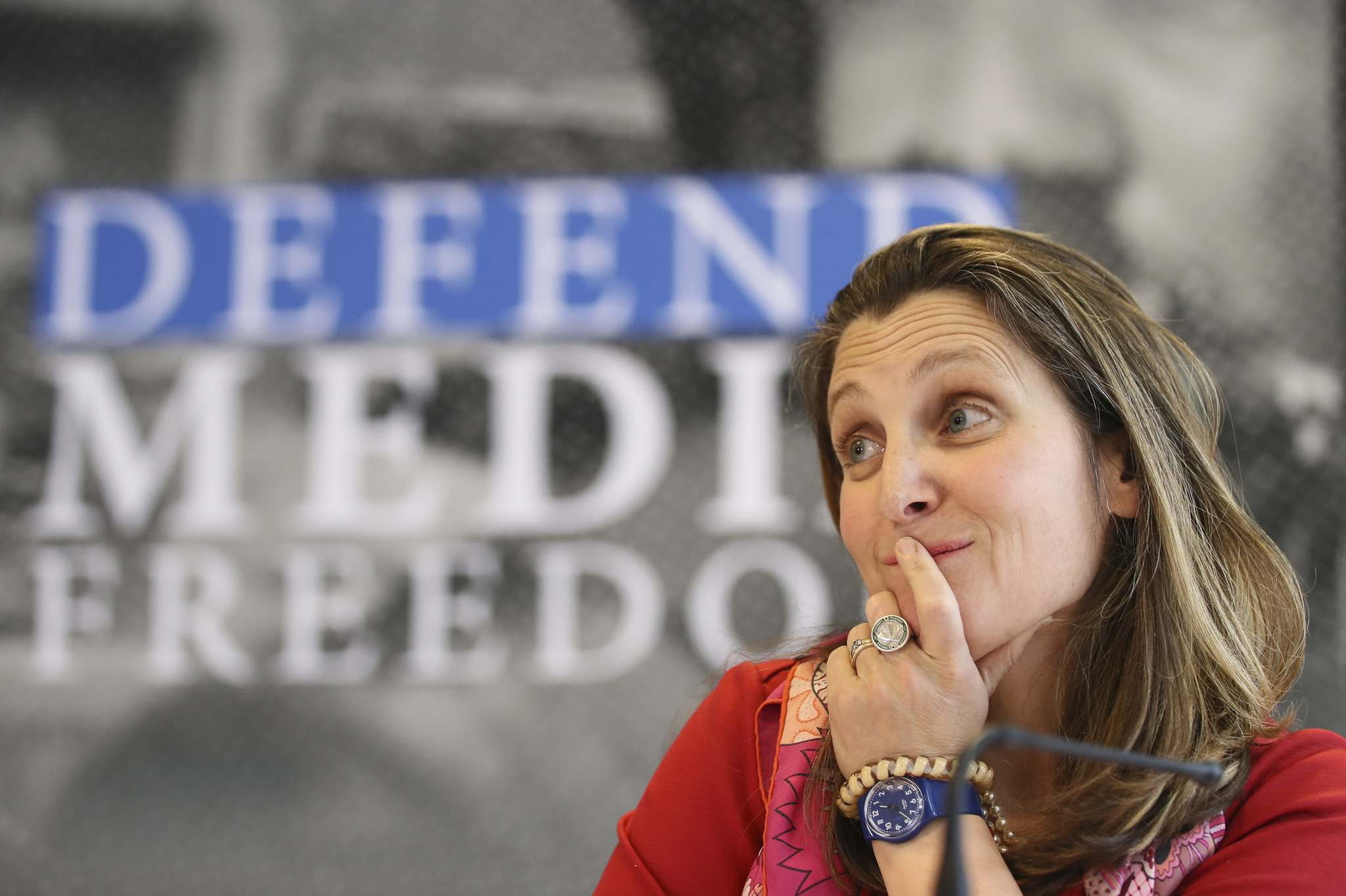 Canada's Foreign Affairs Minister Chrystia Freeland said tech firms have similarities to monopolies that were broken up a century ago. (David Vincent / The Canadian Press files)