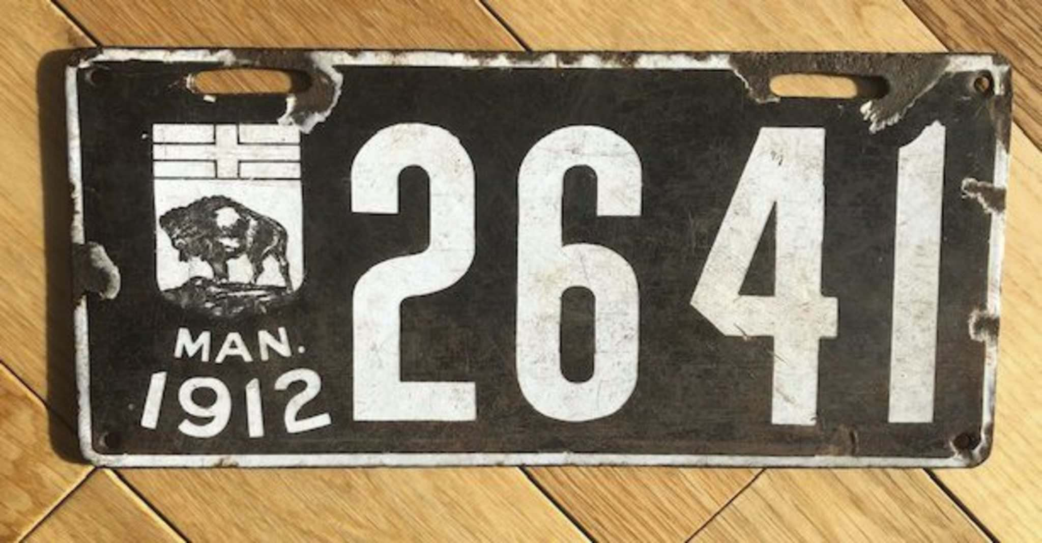 Condition key to value of 1912 licence plate - Winnipeg Free