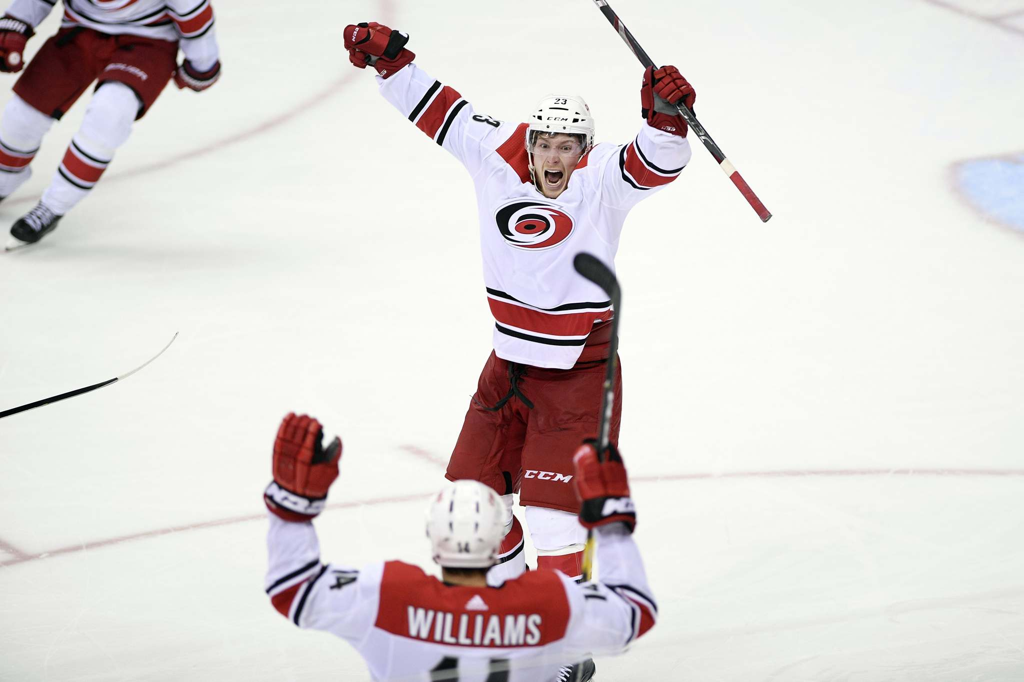 The Carolina Hurricanes have the fifth youngest team in the league, and the highest paid player makes $6 million a season. (Nick Wass / The Associated Press files))</p>