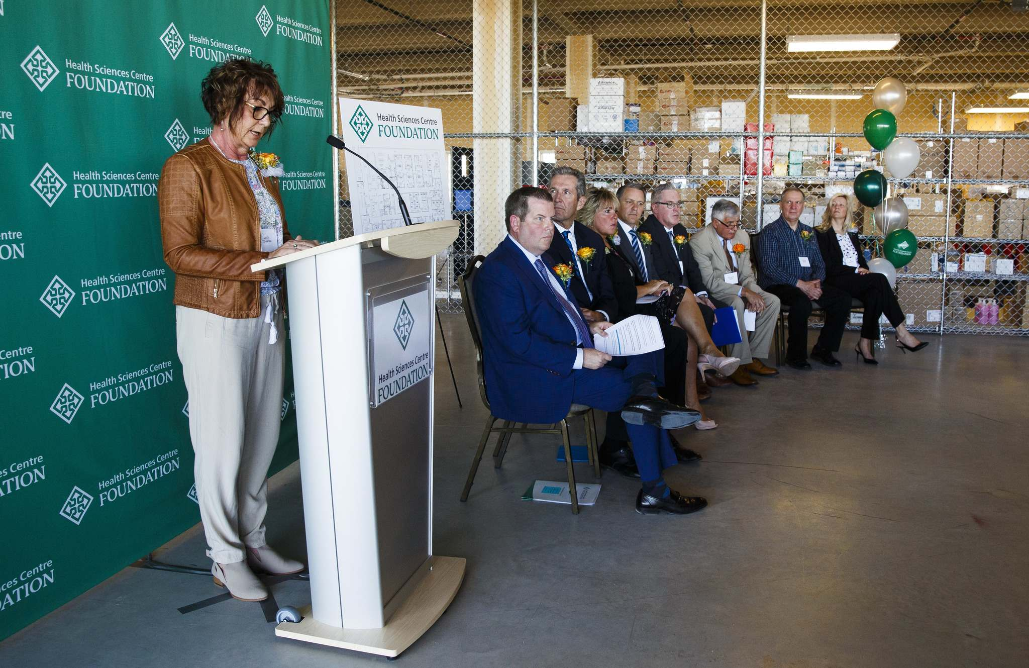 MIKE DEAL / WINNIPEG FREE PRESS</p><p>Linda Edwards a transplant patient speaks during an announcement that the Health Sciences Centre Foundation will build a new transplant clinic on the third floor of Manitoba's largest hospital thanks to $3 million from two anonymous donors and $2.5 million from the province.</p>