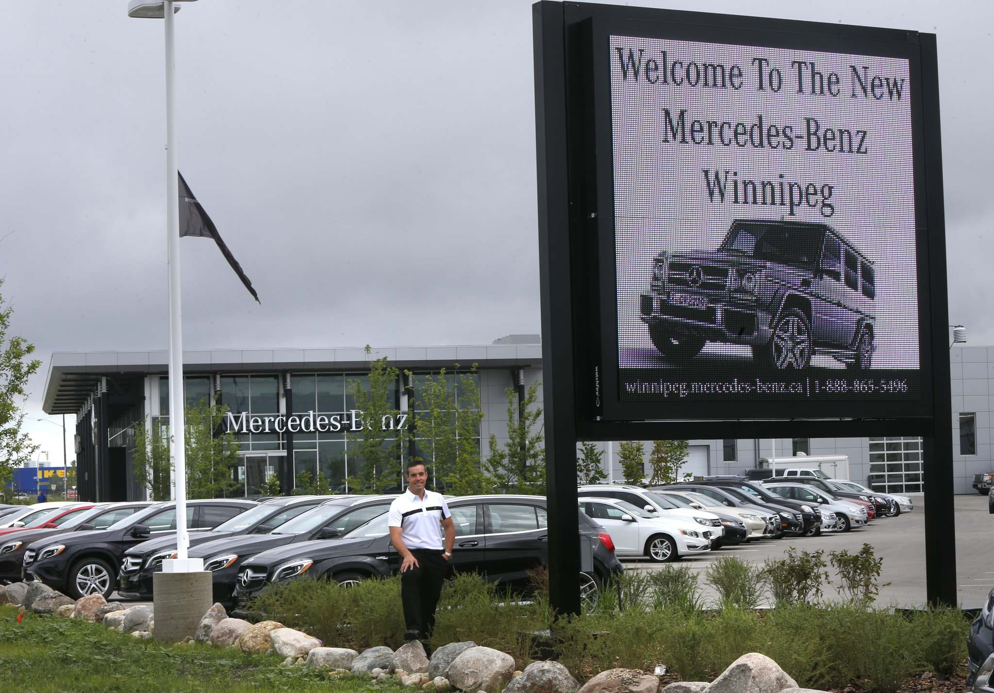 Mercedes-Benz Winnipeg president/owner Brian Lowes moved his dealership to 23 Rothwell Road off Kenaston Boulevard in 2015. (Wayne Glowacki / Winnipeg Free Press files)</p>