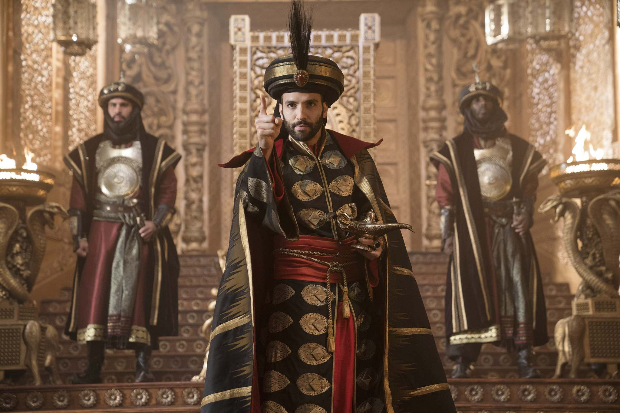 Marwan Kenzari is too young to be Jafar, but serves as a convincing villain. (Daniel Smith / Disney)