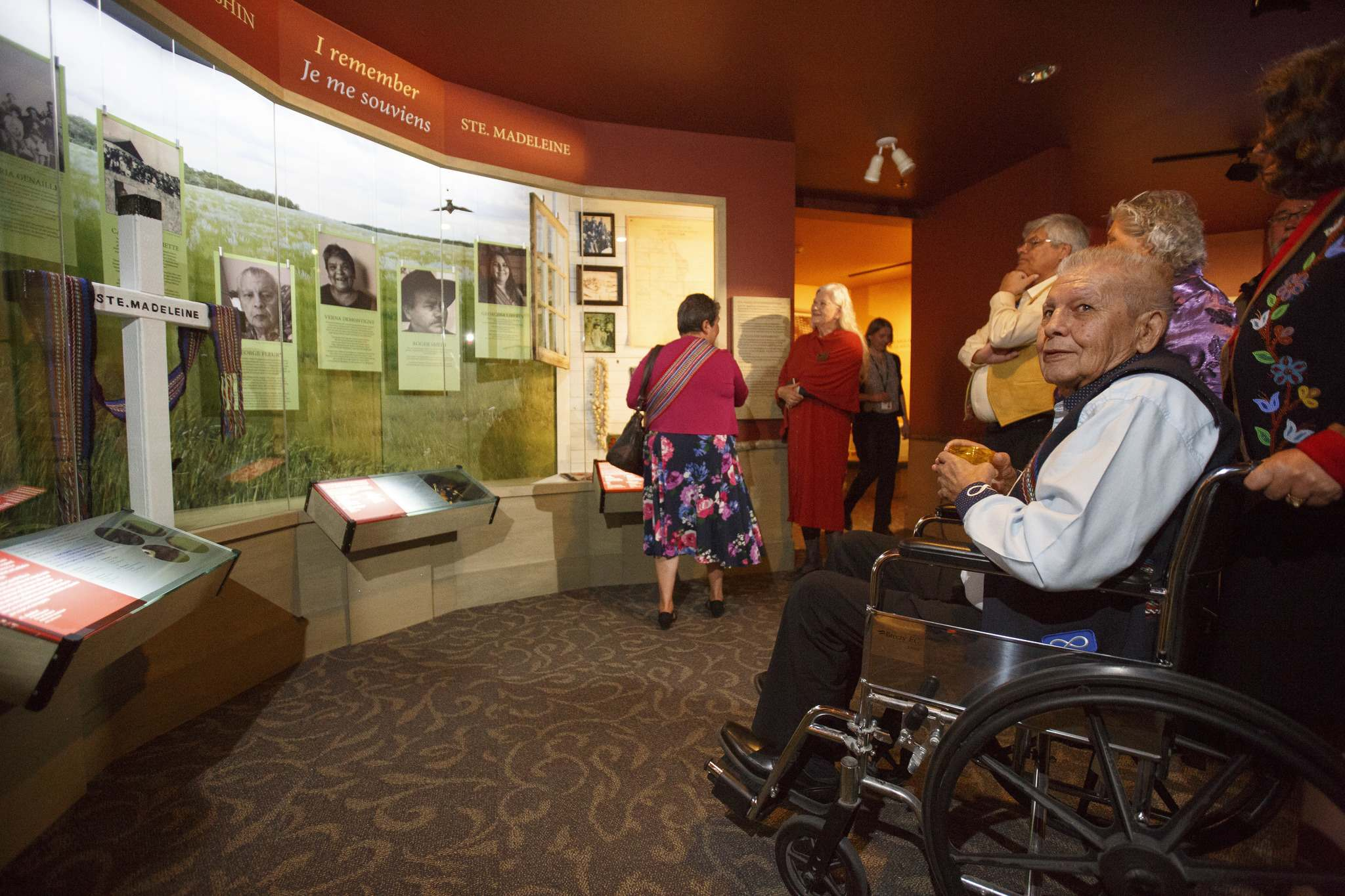 MIKE DEAL / WINNIPEG FREE PRESS</p><p>Elder George Fleury, Survivor, during the official opening of the new exhibit at the Manitoba Museum devoted to the tragic story of Ste. Madeleine – depicting the displacement of hundreds of Métis people in Manitoba.</p>
