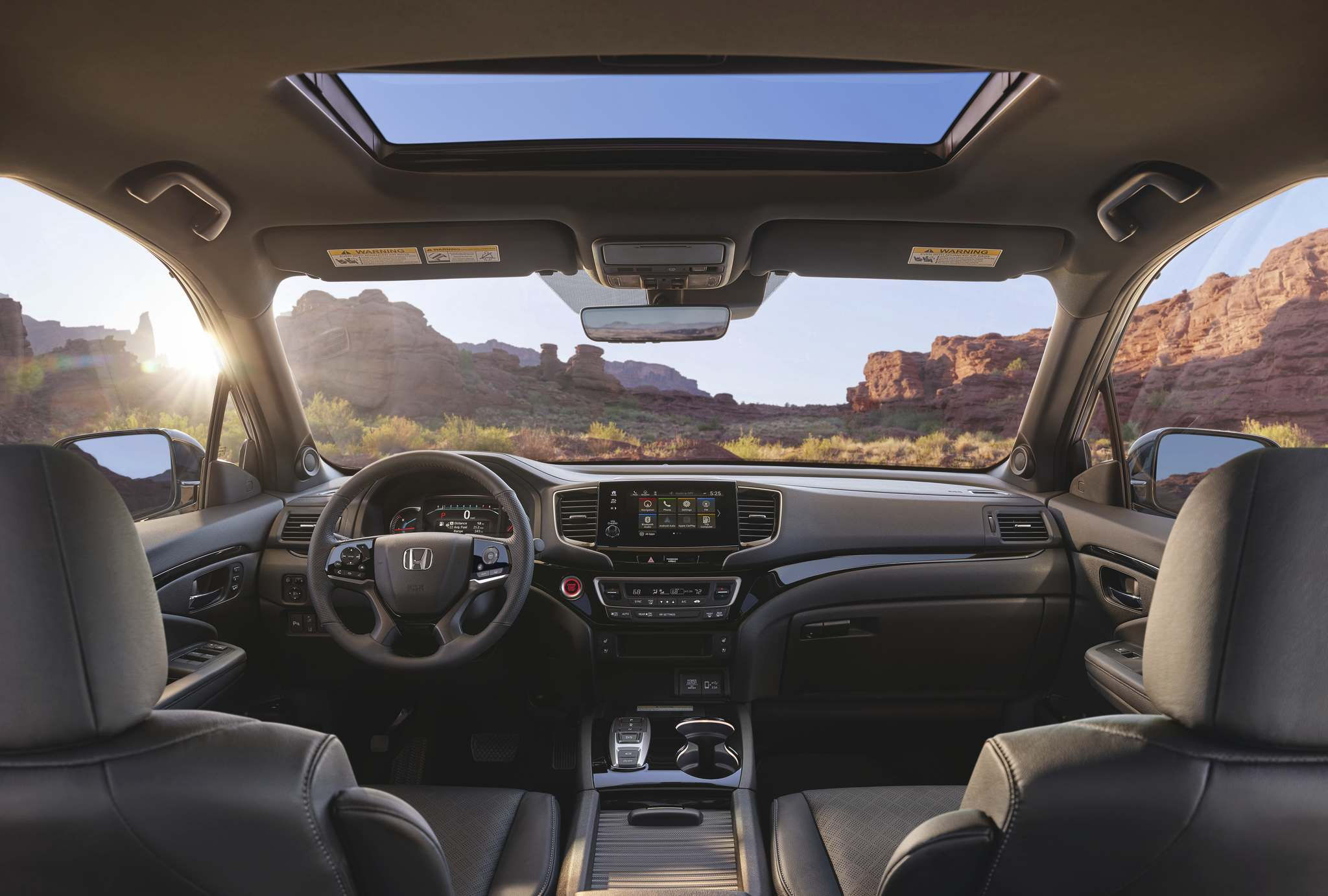 The 2019 Passport's interior is loaded with technology, including a touchscreen display.