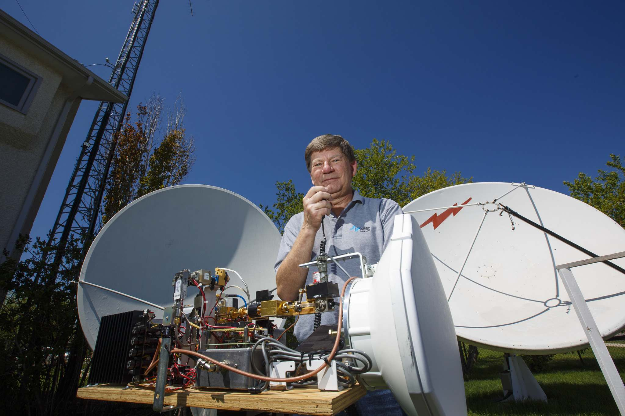 Barry Malowanchuk built his first radio transmitter in the 1960s when he was 12. His gear has grown significantly more sophisticated since then. (Mike Deal / Winnipeg Free Press)
