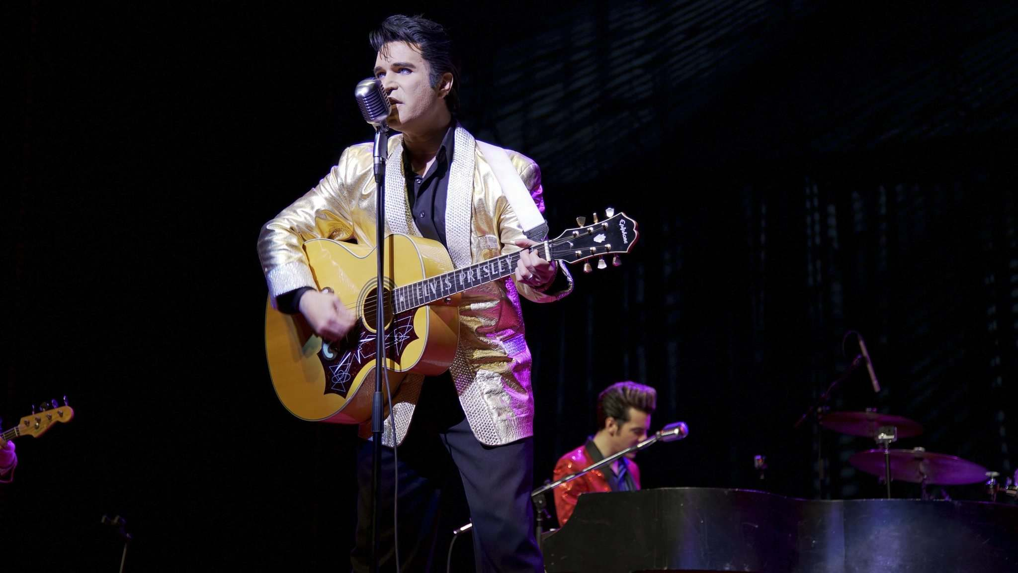 MERIT MOTION PICTURES</p><p>Former world-champion Elvis impersonator Ted Torres performs as the King in a scene from Almost Almost Famous.</p>