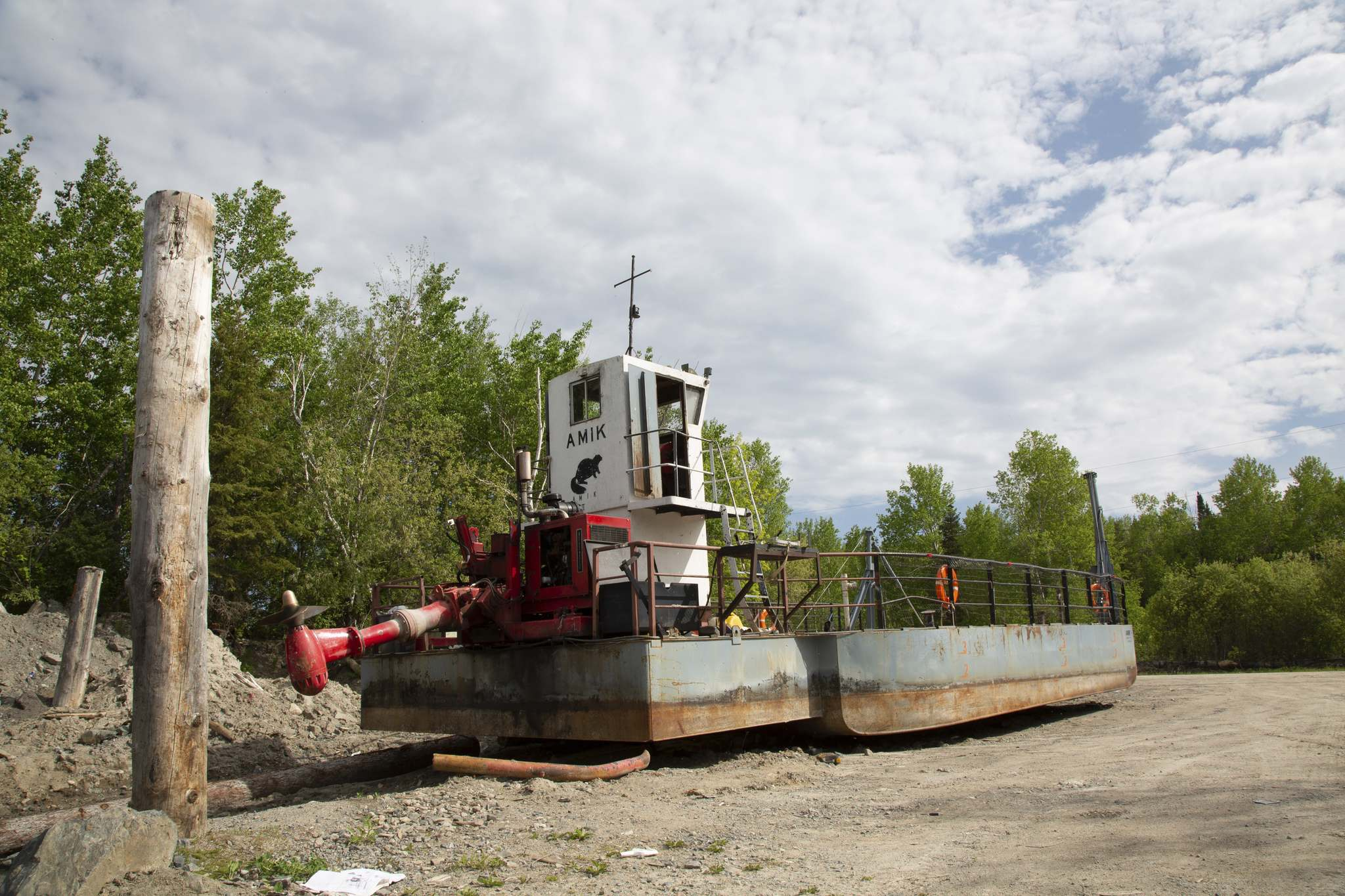 The Amik, the ferry residents used to rely on to cross the water to get to the Trans-Canada Highway.</p>
