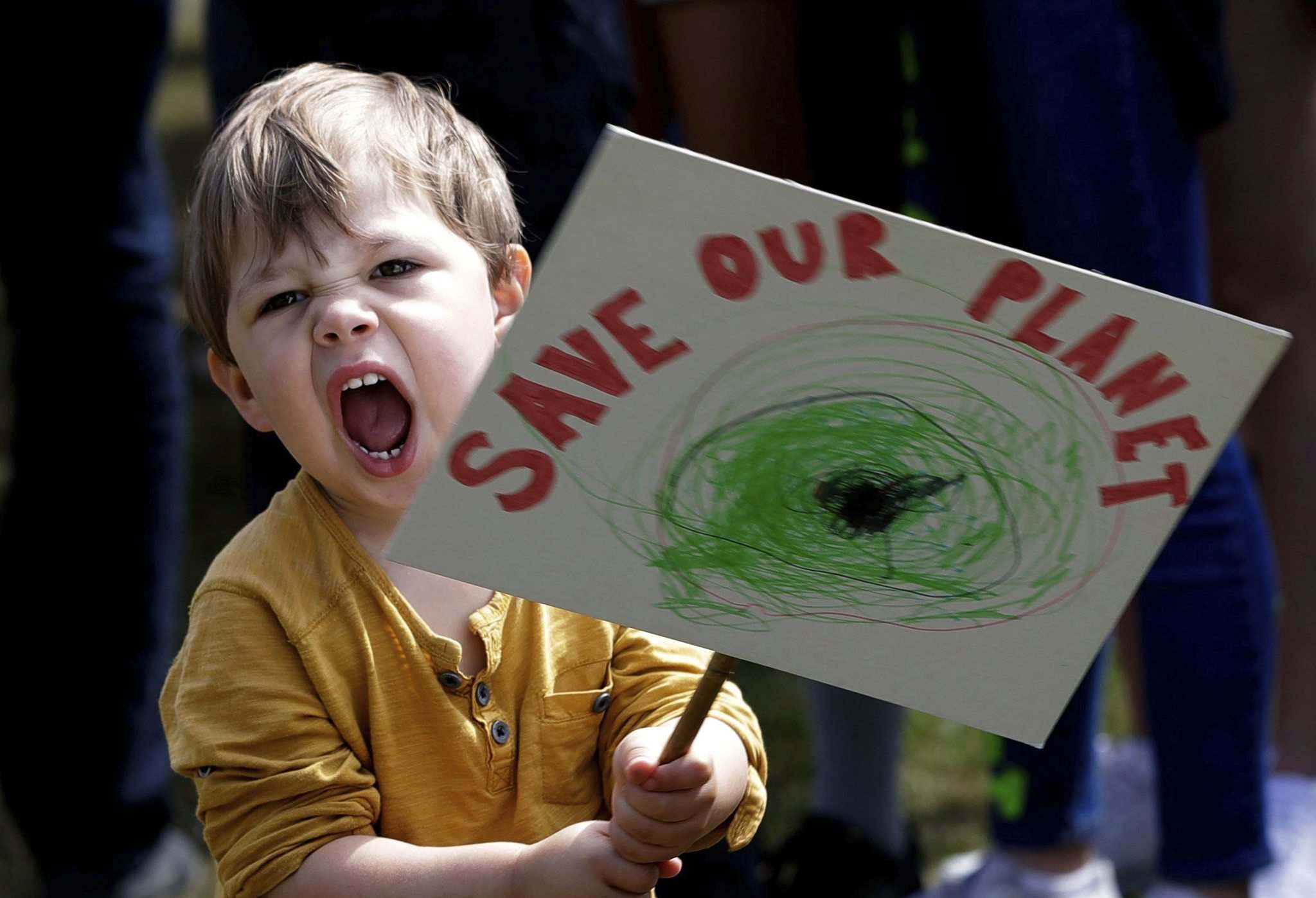 Kirsty Wigglesworth / The Associated Press files</p><p>A young protester takes part in a demonstration organized by Global Strike 4 Climate in London, England, on May 24.</p>