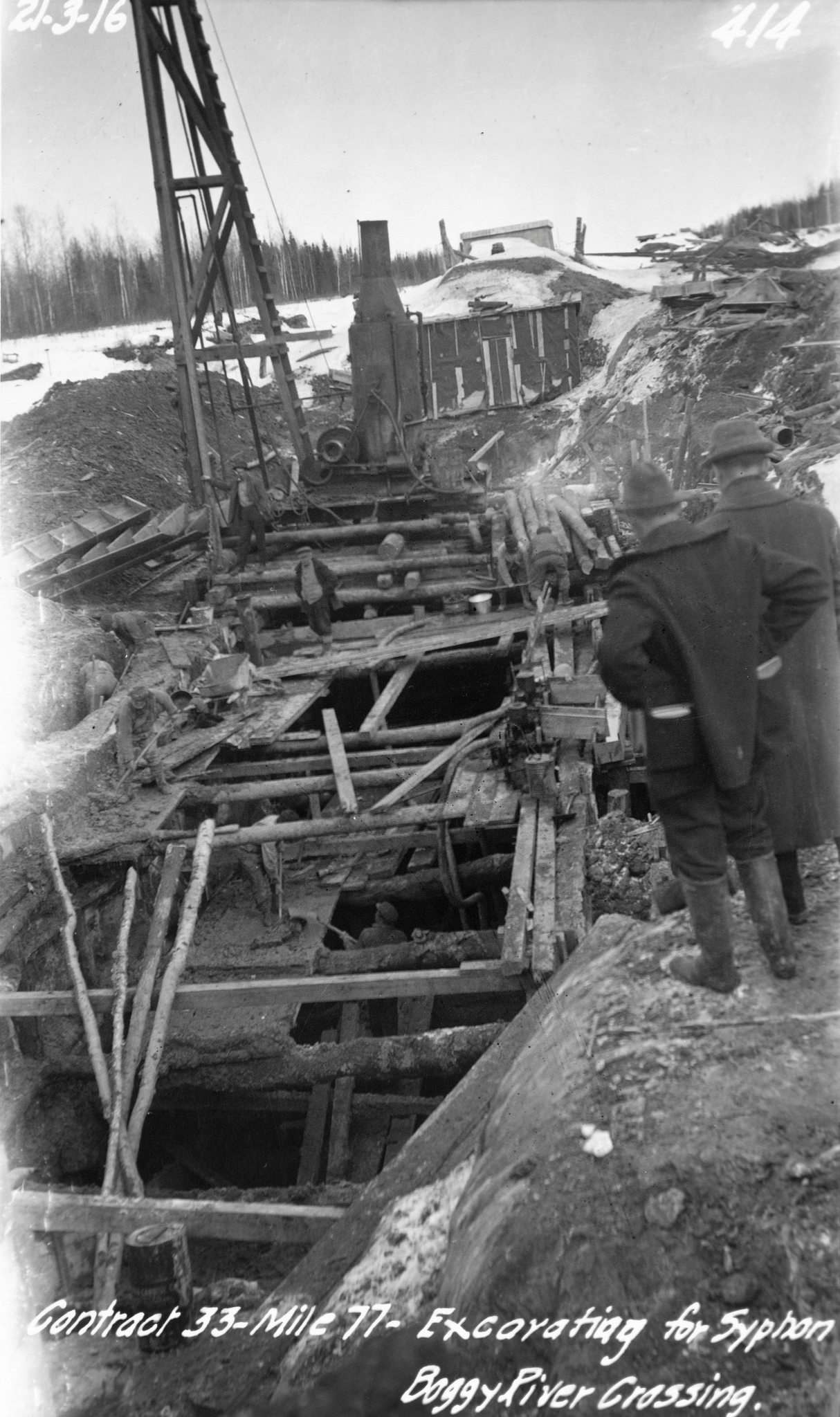 These photos from circa 1916-17 show the progress of the aqueduct construction that brought Shoal Lake water to Winnipeg. The project cost $17 million at the time. (Supplied photos)
