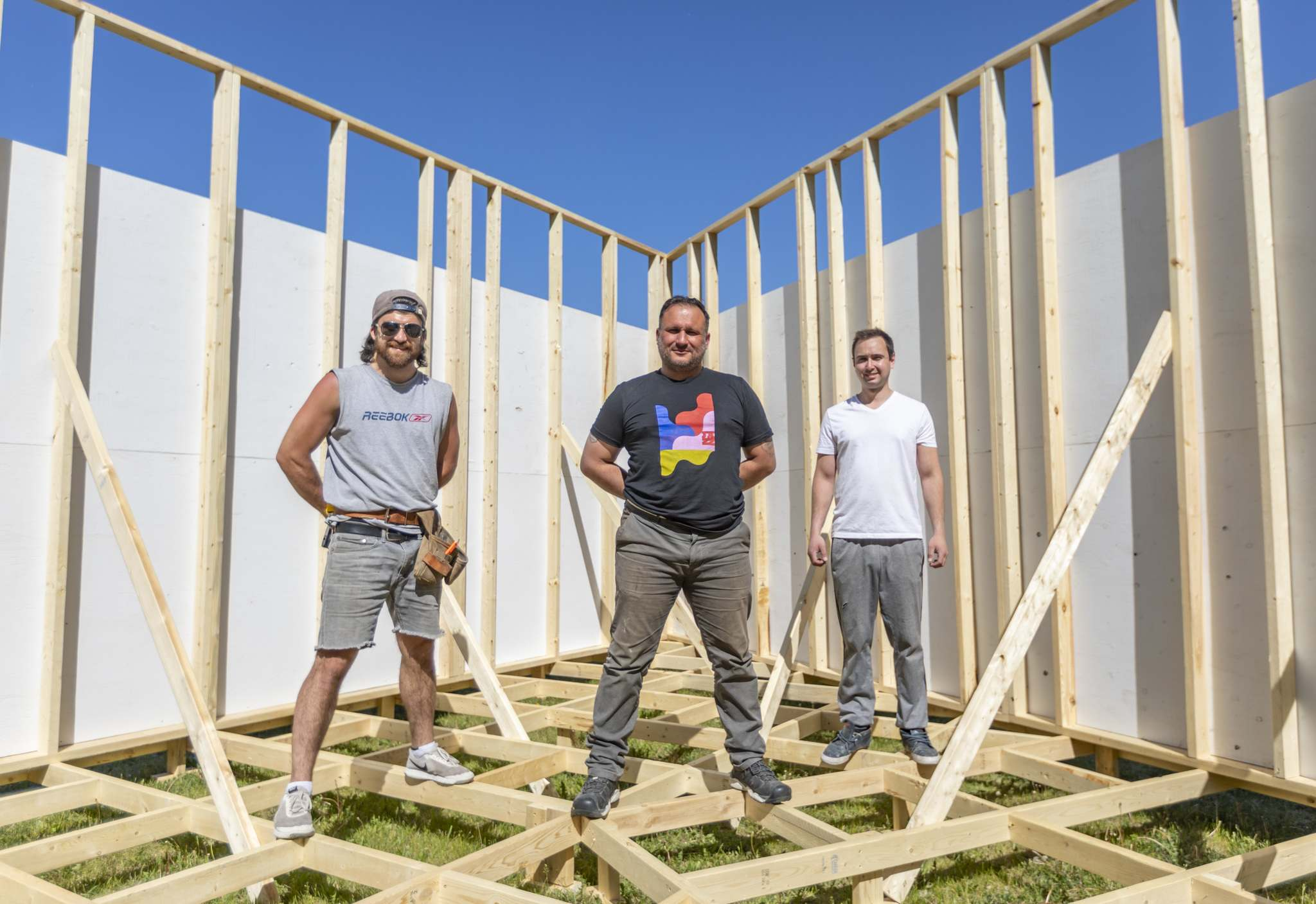 SASHA SEFTER / WINNIPEG FREE PRESS</p><p>RAW:Gallery founder Joe Kalturnyk (middle) and his crew Patrick Anderson (left) and Nick Kalturnyk have teamed up with jazz fest to create a temporary venue in St. Boniface.</p></p>