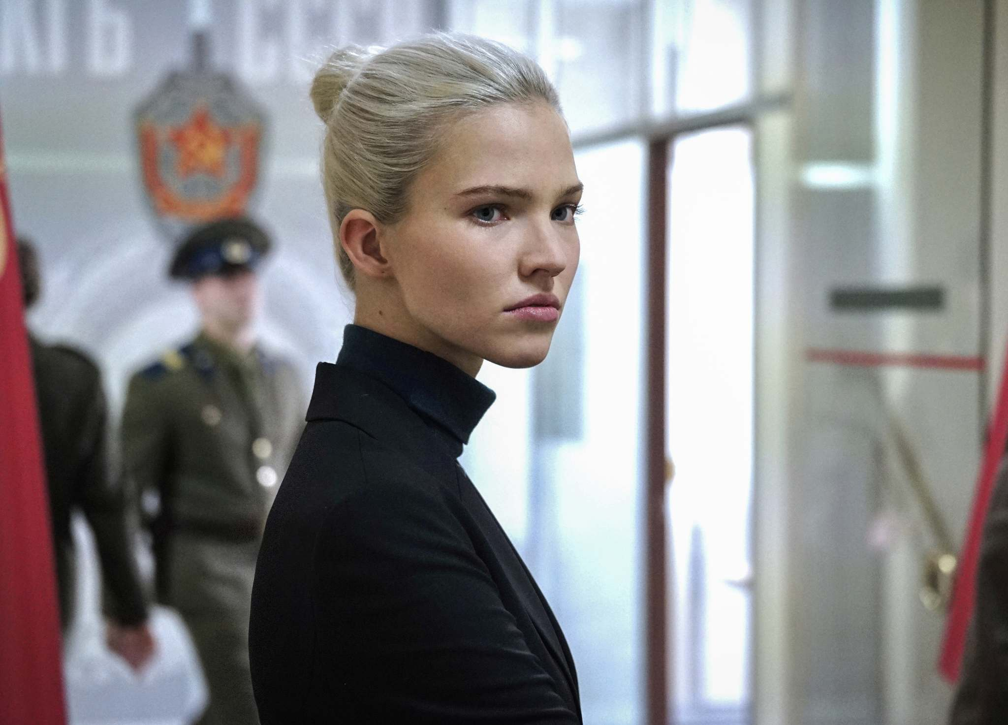 Sasha Luss plays model turned assassin in Luc Besson's Anna. eOne.</p></p>