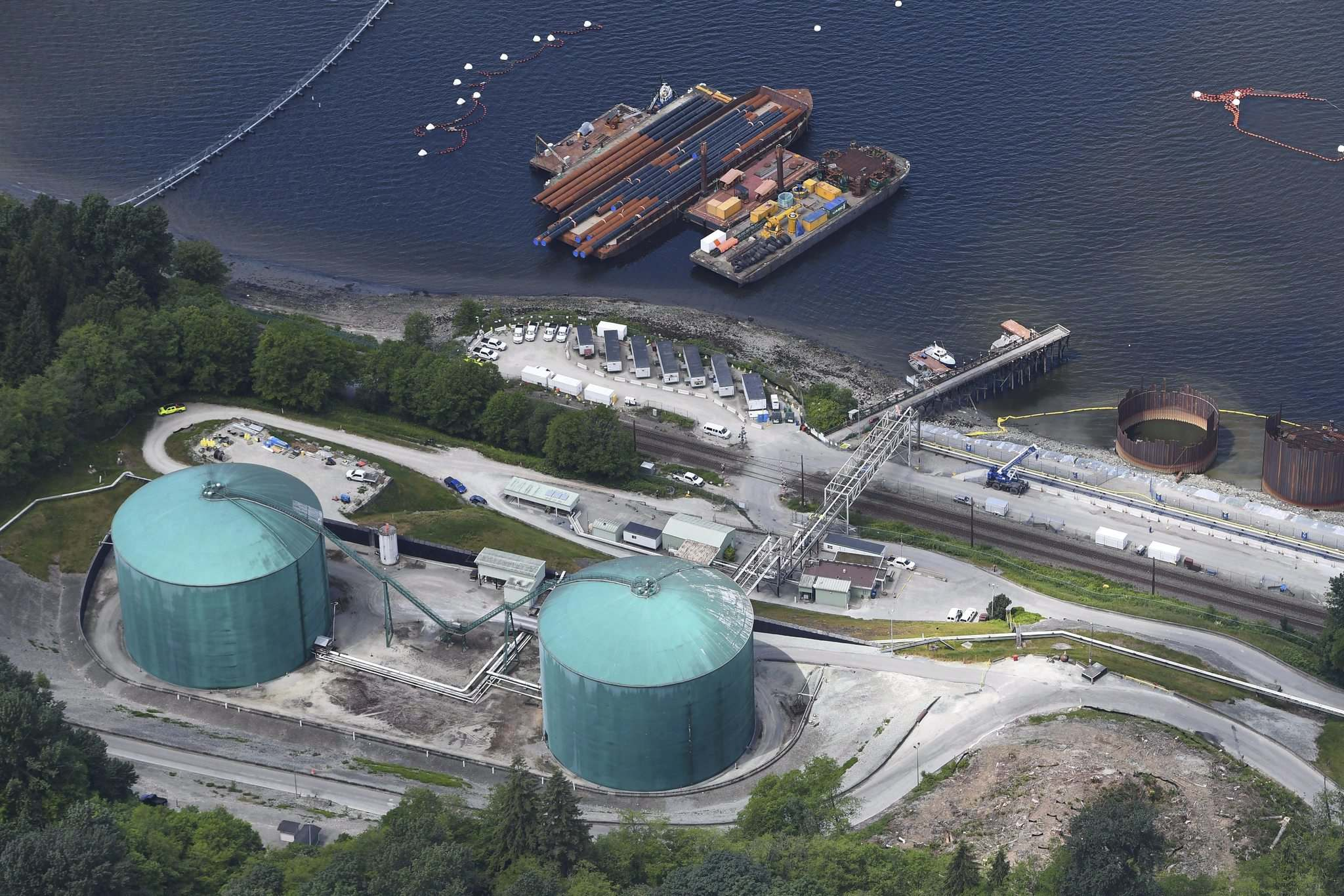 Jonathan Hayward / the canadian press files</p><p>This view of Kinder Morgan's Trans Mountain marine terminal in Burnaby, B.C., is a reminder of Canada's economic dependence on natural resources: more than any other G7 country.</p>