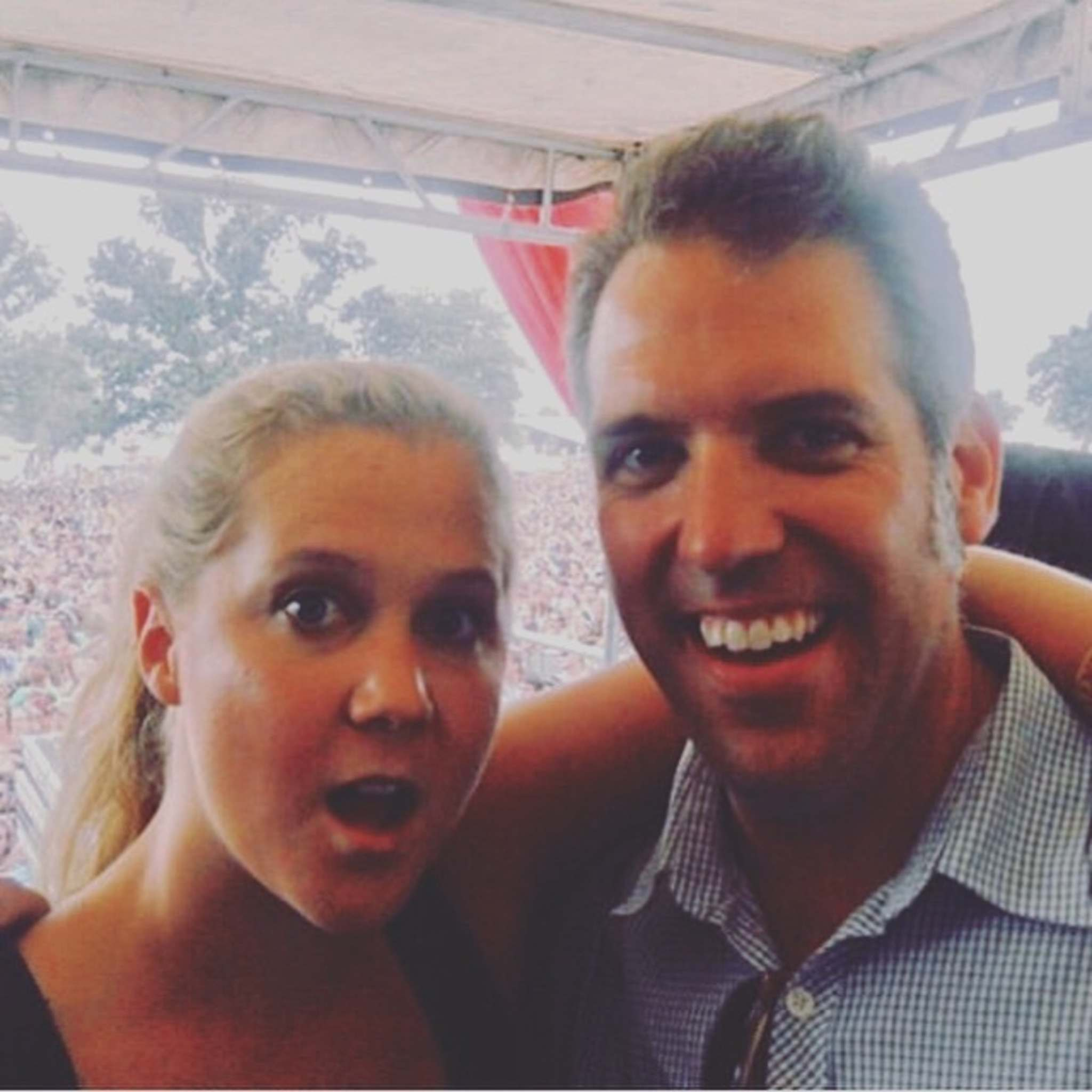 Chris Frayer with Amy Schumer at the 2012 Bonnaroo Music and Arts Festival. (Supplied photo)</p>