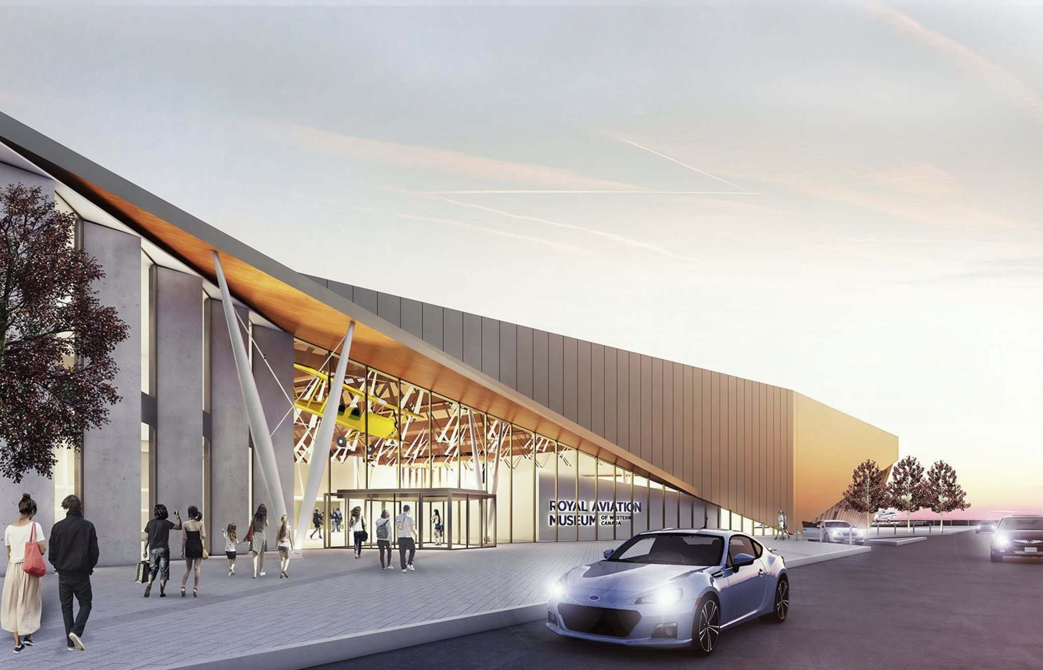 Supplied</p><p>An artist's rendering of the Royal Aviation Museum of Western Canada. The museum is set to open in 2021 and construction at the Wellington Avenue location is expected to begin soon.</p></p>