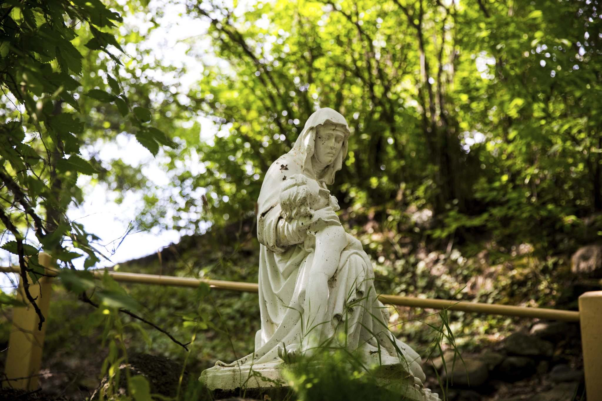One of the statues at the pilgrimage site.
