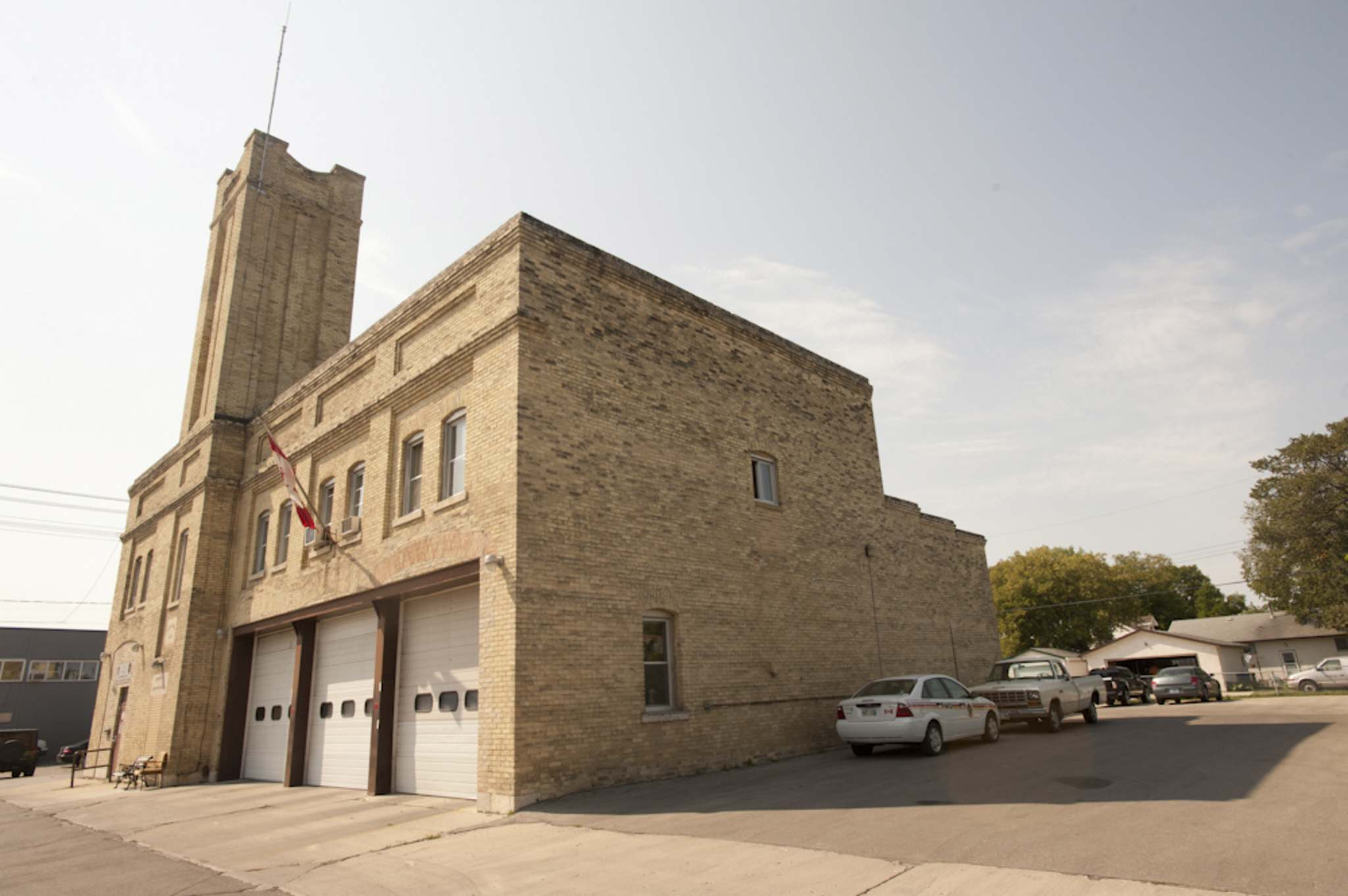 The first fire hall in the former Rural Municipality of Assiniboia. (Cole Breiland / Winnipeg Free Press)