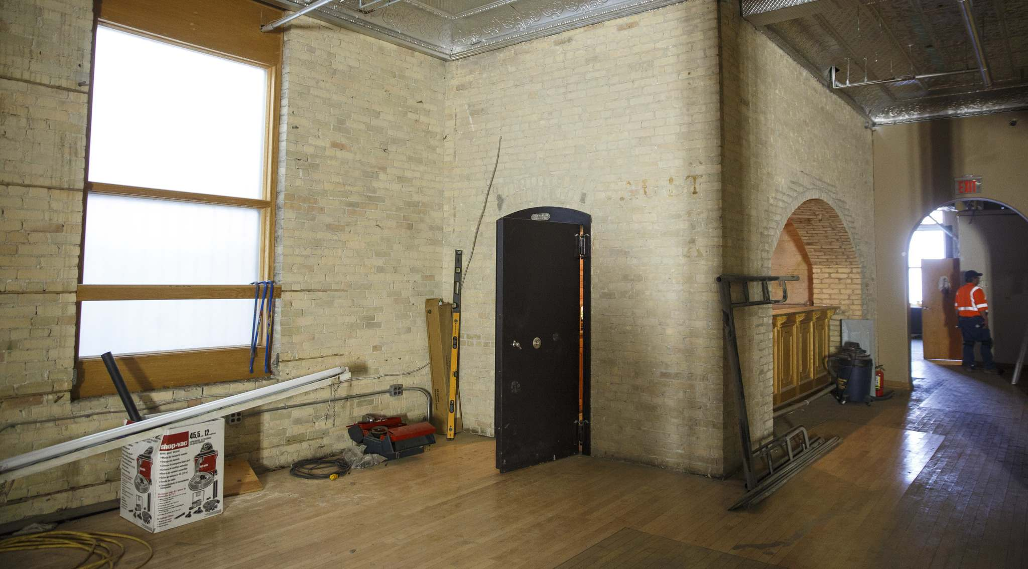 The vault on the first floor of the Gregg Building.</p>