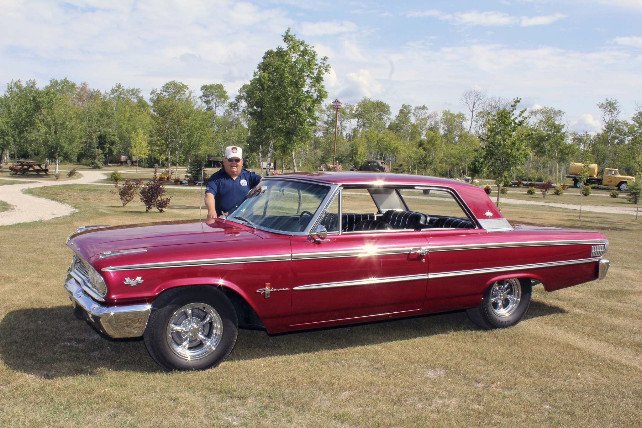 Photos by Larry D'Argis / Winnipeg Free PressLinden Johnson shows off his 1963 Galaxie 500 XL Club Victoria. He bought the car in Kelowna and had it shipped to Manitoba.
