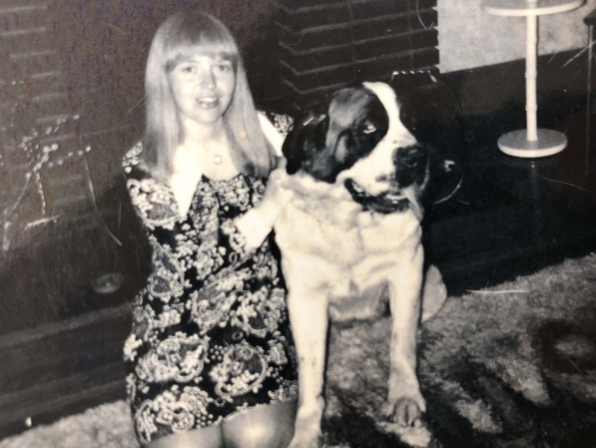Supplied</p><p>Crawley with her dog Brandy.</p></p>