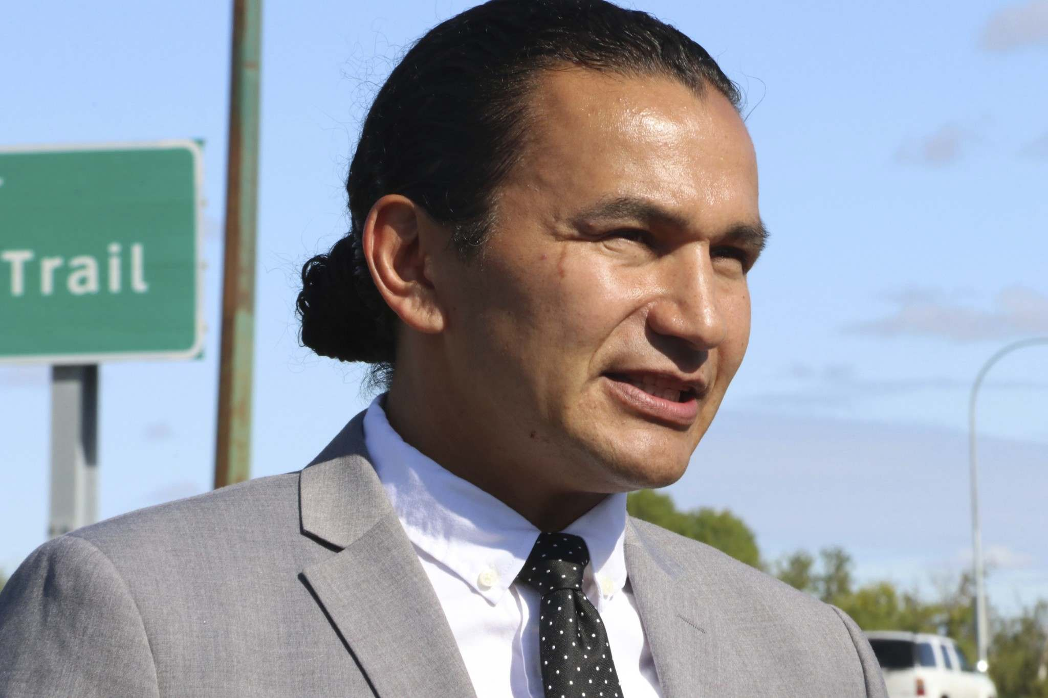 """KELLY MALONE / THE CANADIAN PRESS FILES</p><p>NDP Leader Wab Kinew said the water plant upgrades are """"long overdue.""""</p>"""