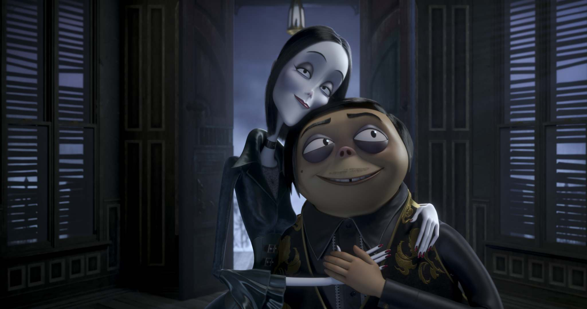Metro-Goldwyn-Mayer Pictures Inc.</p><p>Charlize Theron is the voice of Morticia Addams (left) and Oscar Isaac voices Gomez Addams in the animated adaptation of The Addams Family.</p>