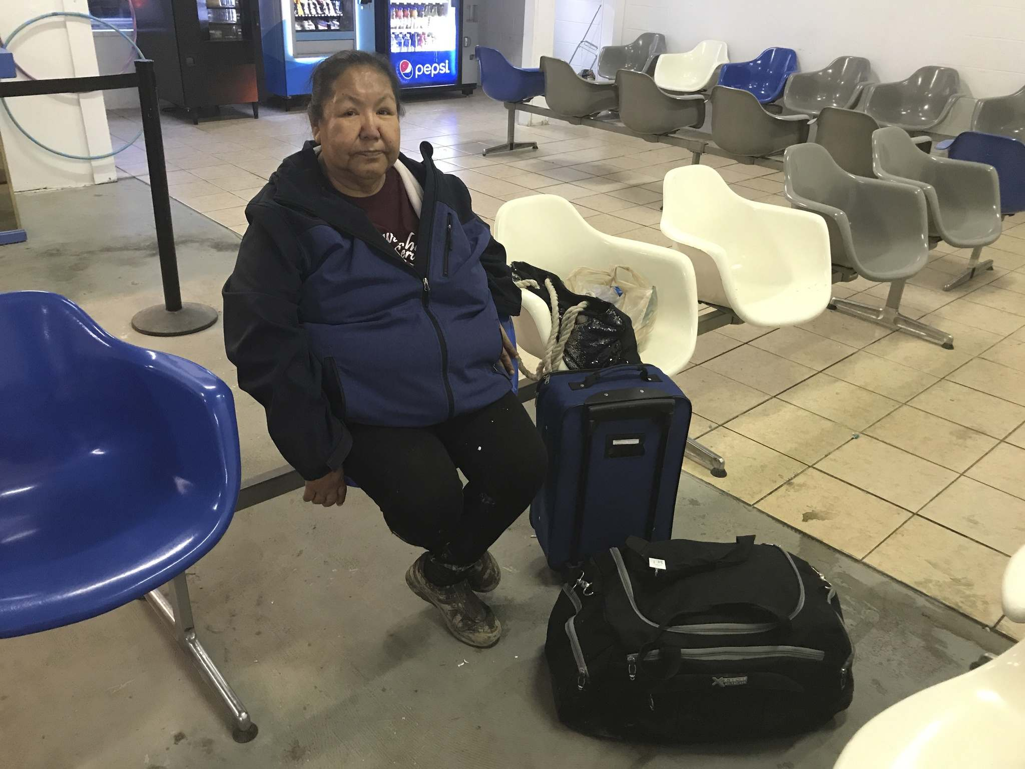 Virginia Monias arranges transportation for patients travelling to Winnipeg for medical treatment. She prefers the bus over driving.