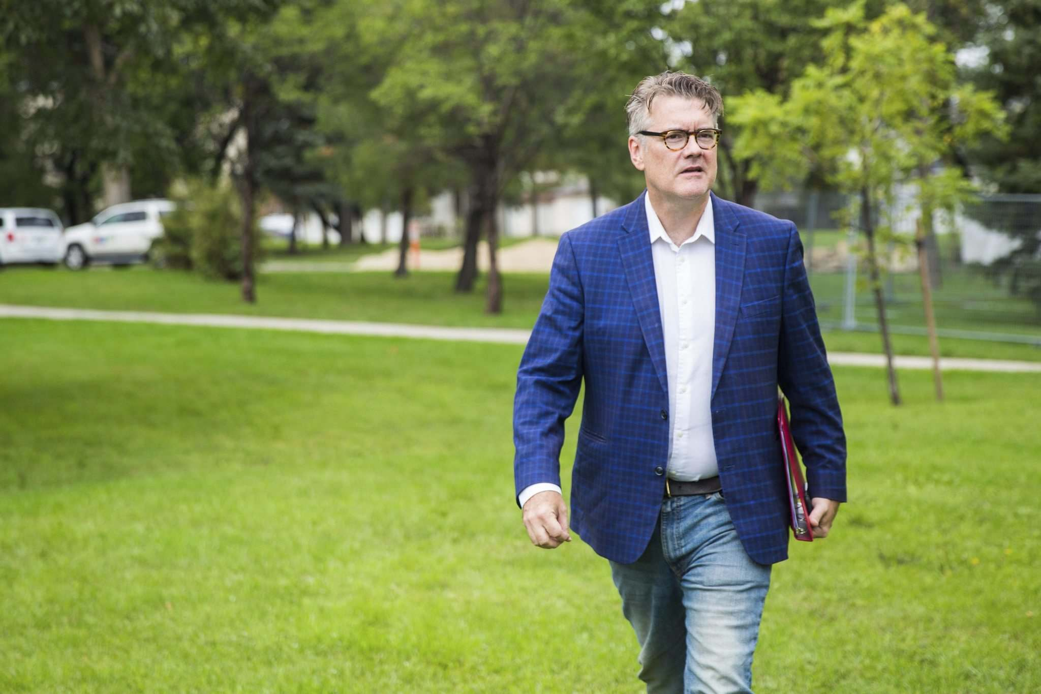 """Too many Manitobans and too many Canadians can't afford their medications,"" Dougald Lamont told reporters Wednesday. (Mikaela MacKenzie / Free Press files)</p>"