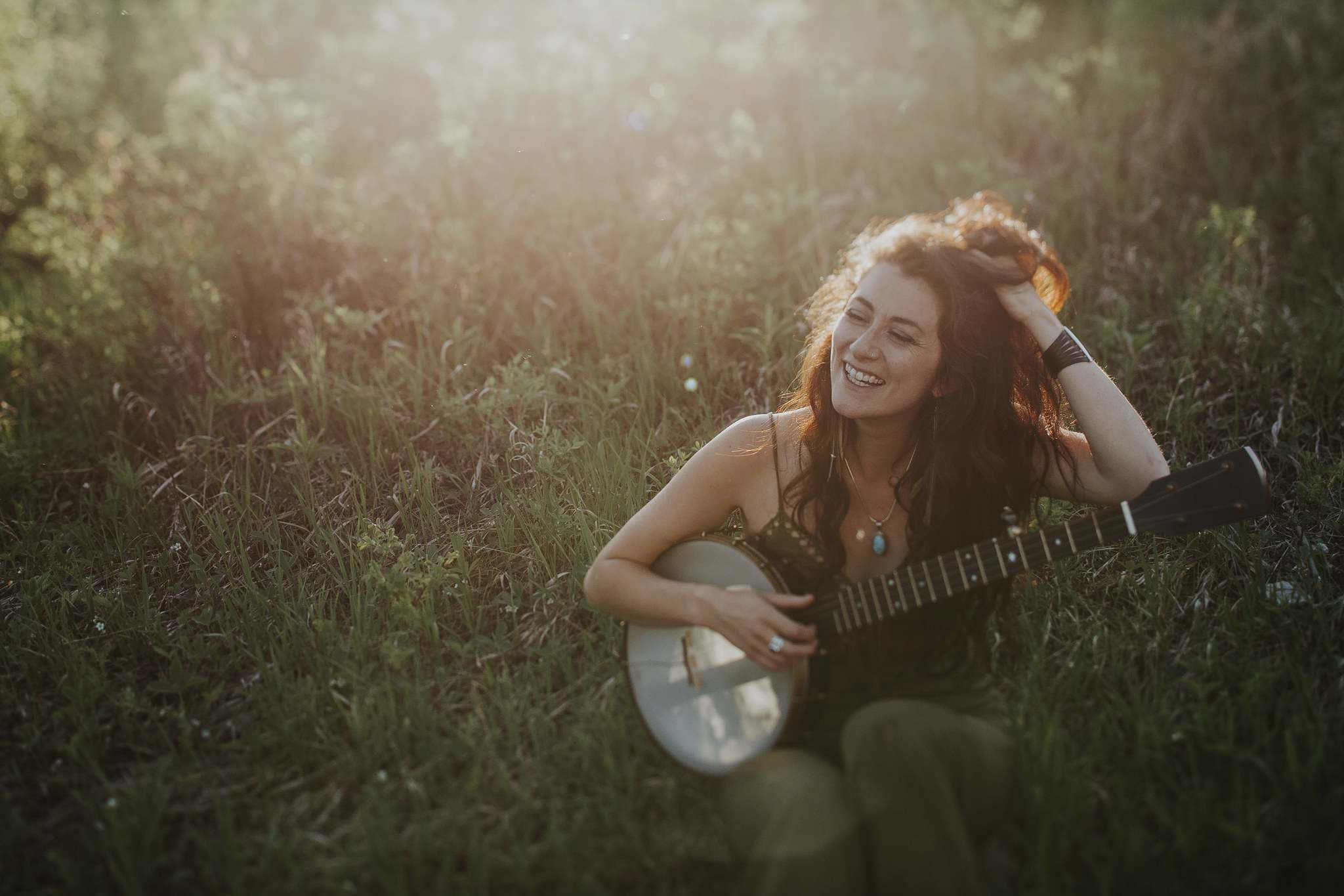 Carly Dow largely taught herself how to play the banjo by watching YouTube videos. (Megan Steen photo)