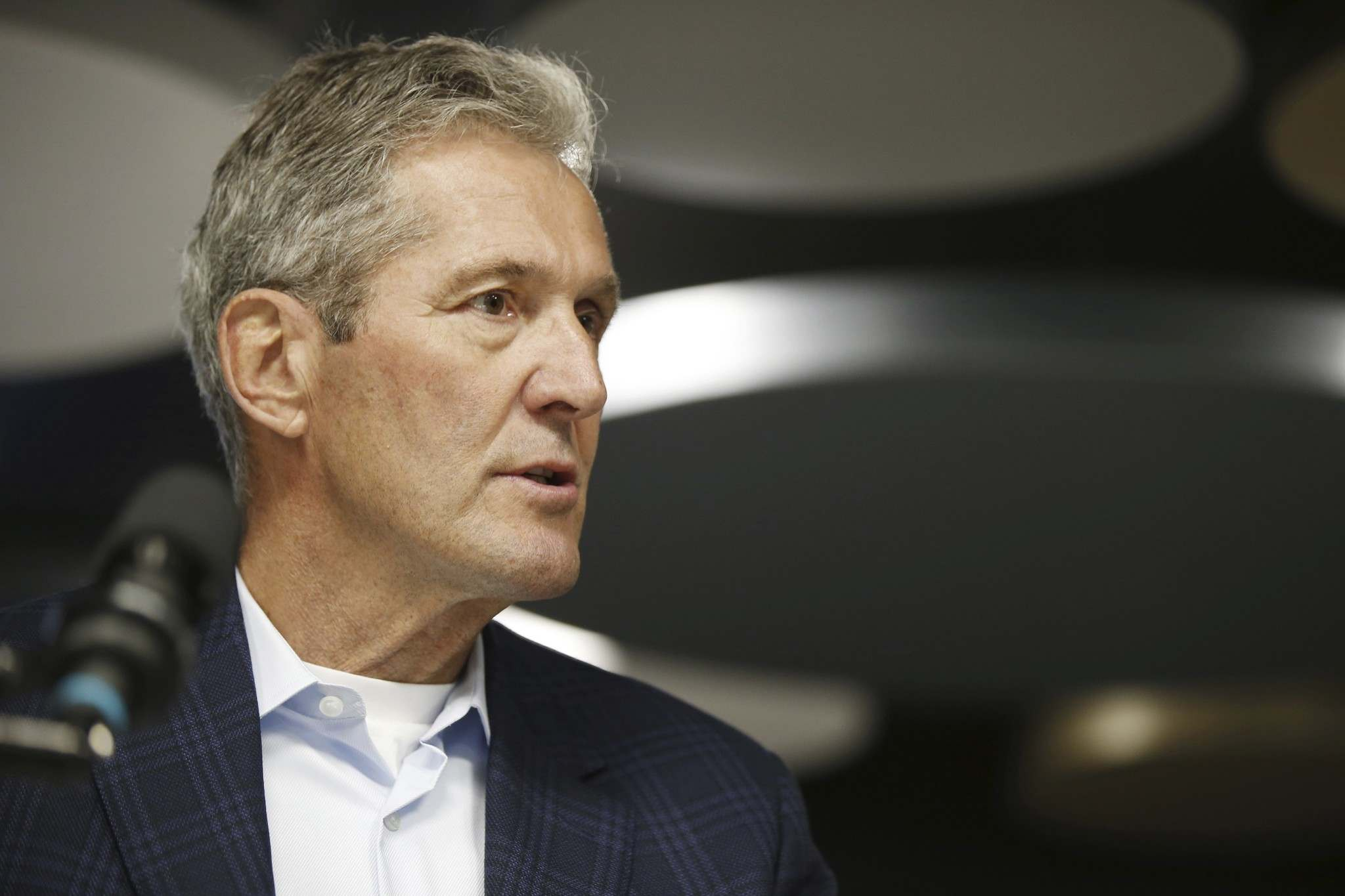 In a news release issued Monday by the Progressive Conservative Party of Manitoba caucus, Pallister said he gave written notice to house Speaker Myrna Driedger informing her of his immediate resignation. (John Woods / Canadian Press files) </p>