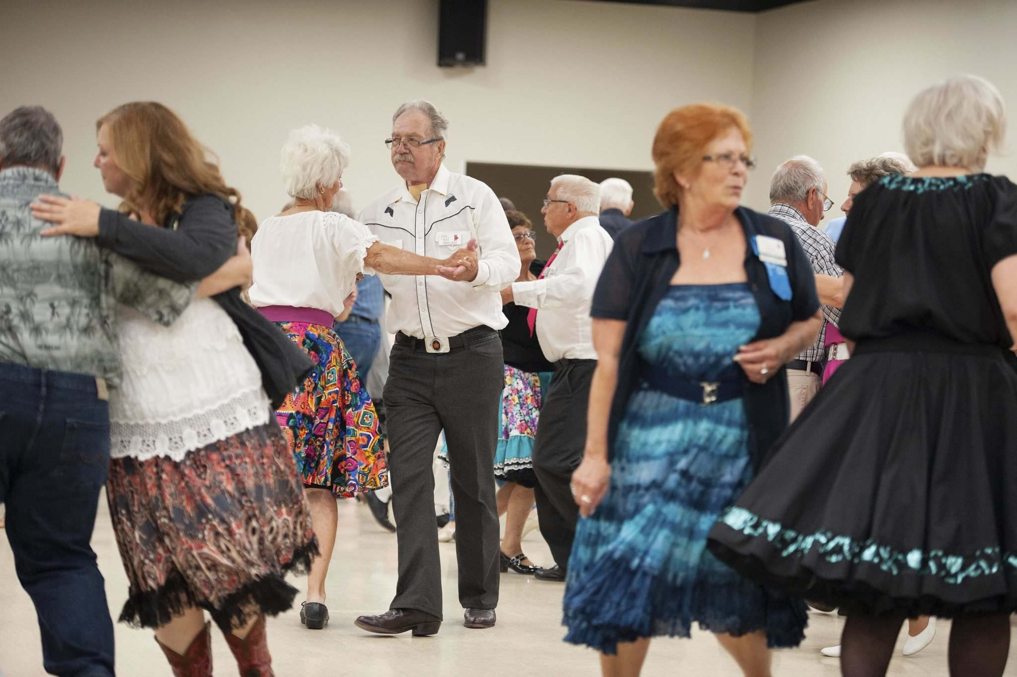 MIKE SUDOMA / WINNIPEG FREE PRESS</p><p>The Grande Squares dancers kick up their heels every Monday night from September to May at the Norberry-Glenlee Community Centre.</p>