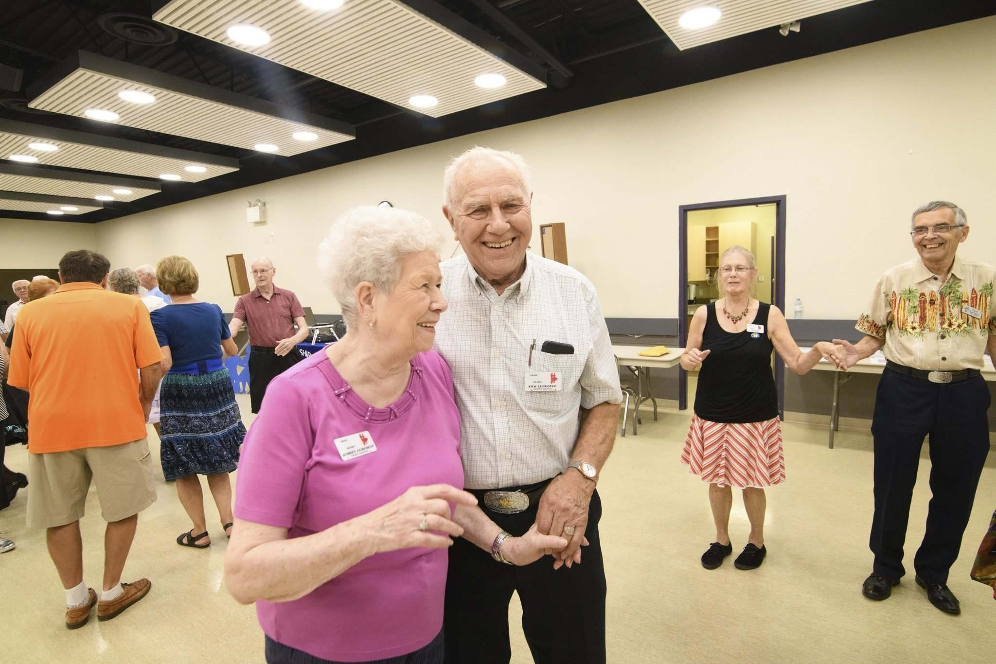 MIKE SUDOMA / WINNIPEG FREE PRESS</p><p>Audrey (left) and Nick (right) have been dancing for 32 years and continue to do so as they dance at Monday nightÕs meetup at Norberry Community Centre September 17, 2019</p>