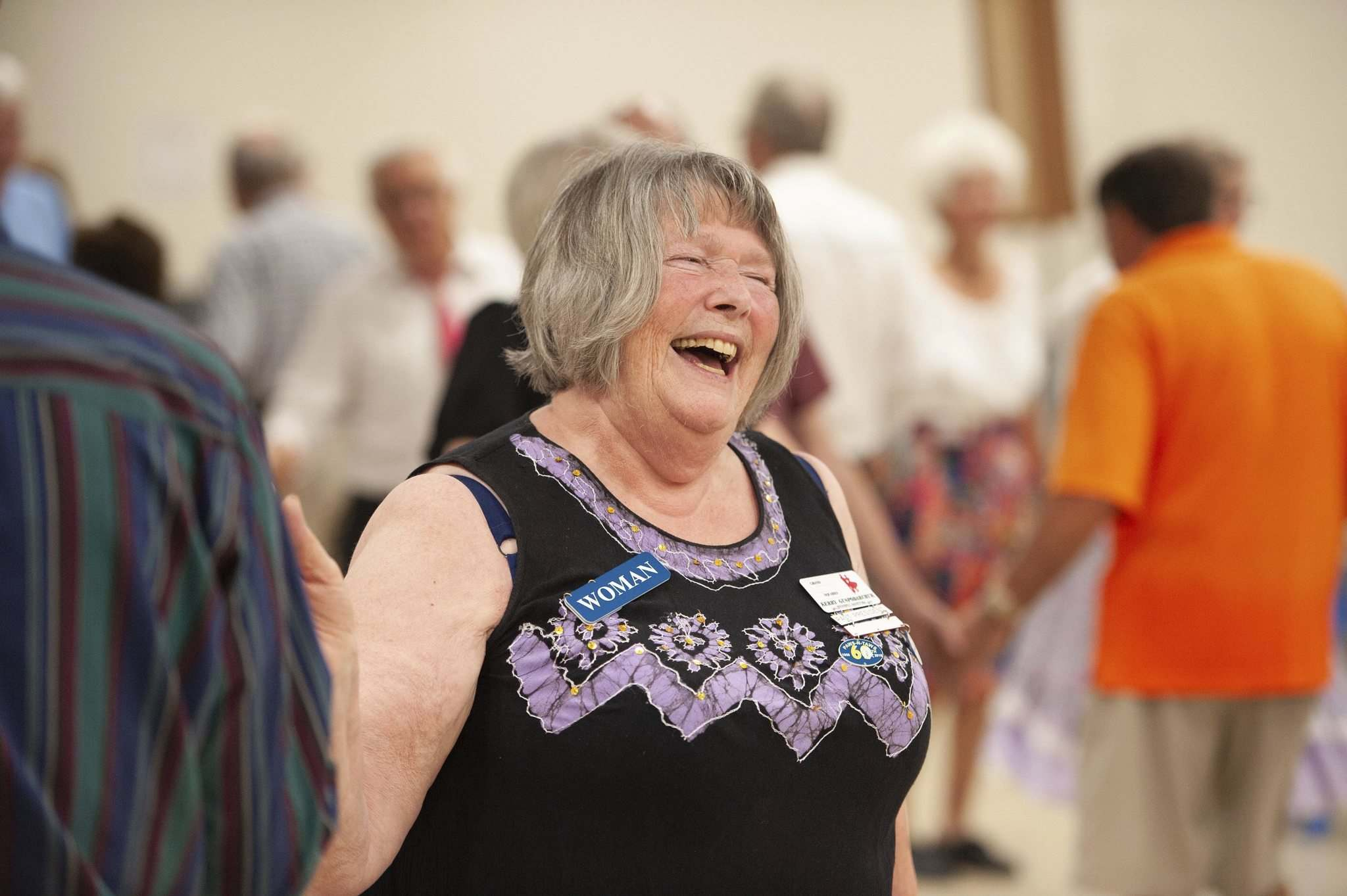 MIKE SUDOMA / WINNIPEG FREE PRESS</p><p>Kerry Guspordarchuk isn't alone in having a good time at the weekly gathering of square dancing enthusiasts.</p>