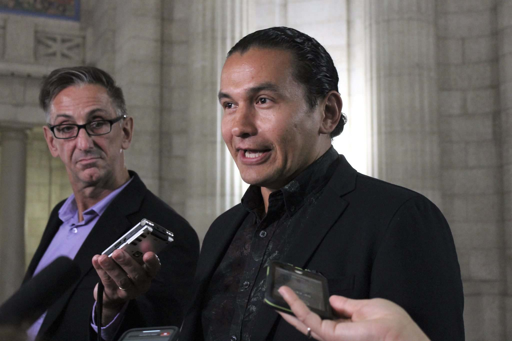 JESSICA BOTELHO-URBANSKI / WINNIPEG FREE PRESS</p><p>NDP Leader Wab Kinew says Manitoba's Conservative government is failing to limit the province's carbon footprint and address climate change.</p>