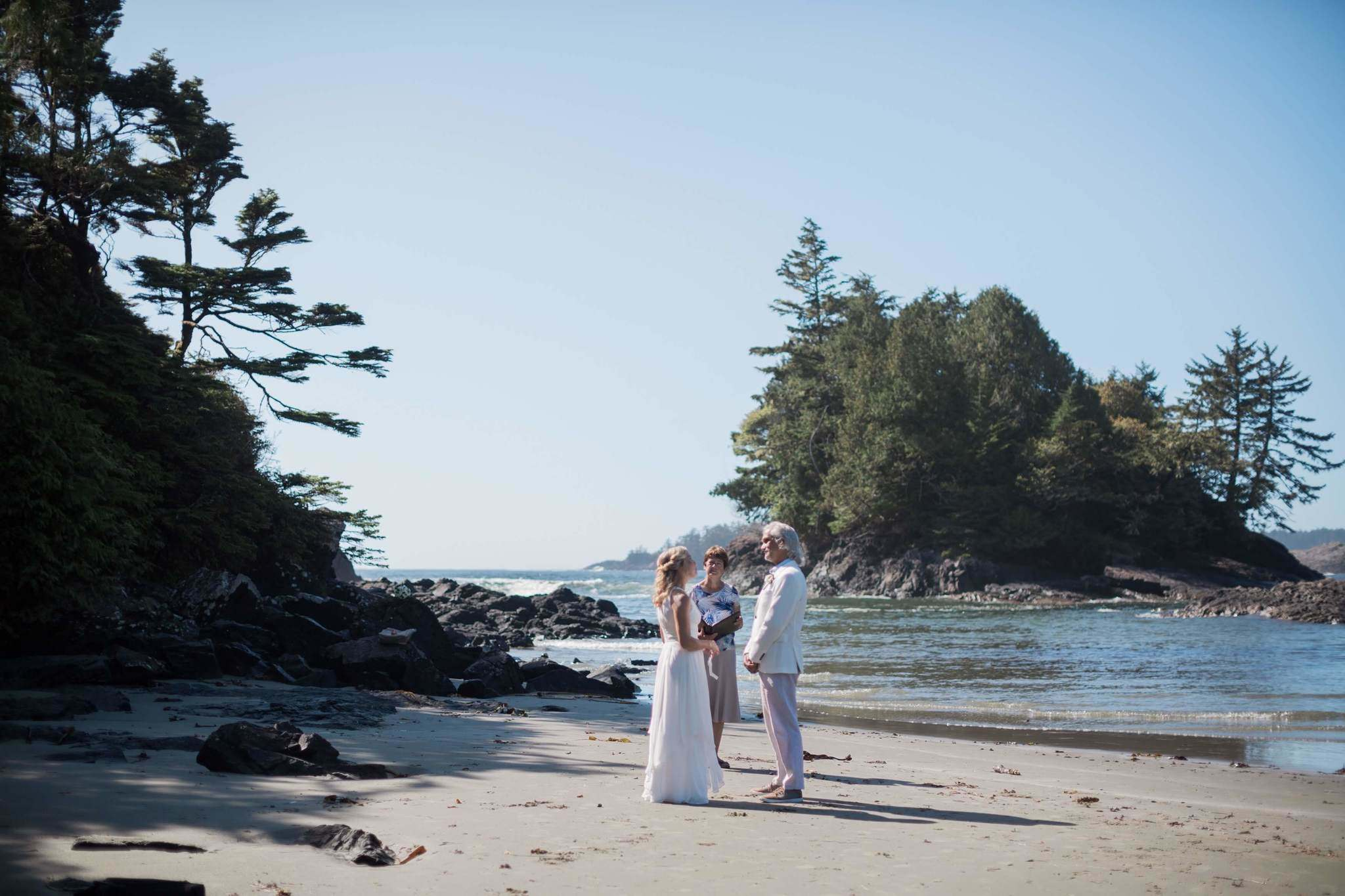 Wiecek got married on a beach in Tofino.</p>