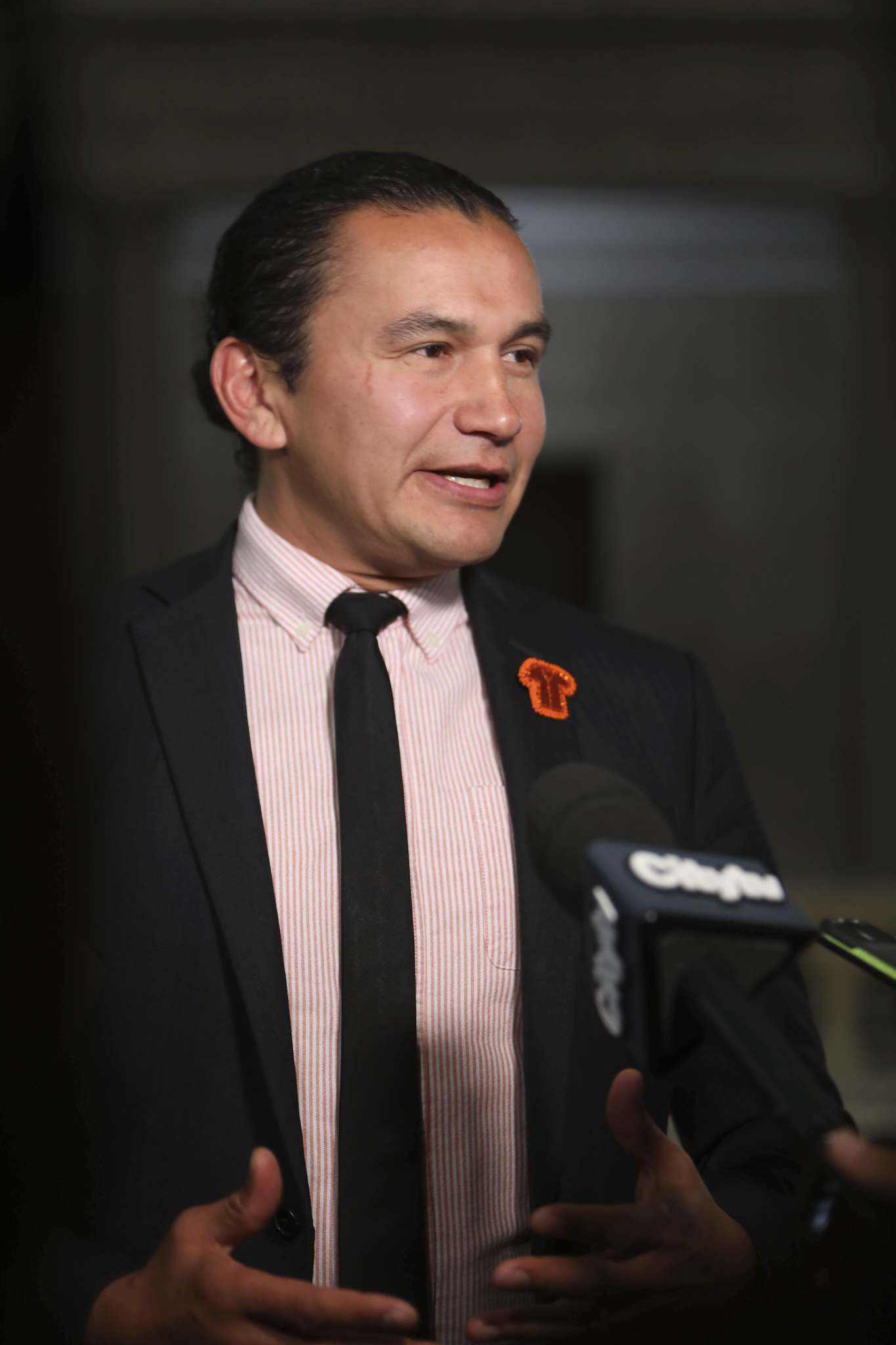 NDP leader Wab Kinew's expanded caucus includes additional financial resources that will allow the party to hire two additional political staffers. (Ruth Bonneville / Winnipeg Fee Press files)